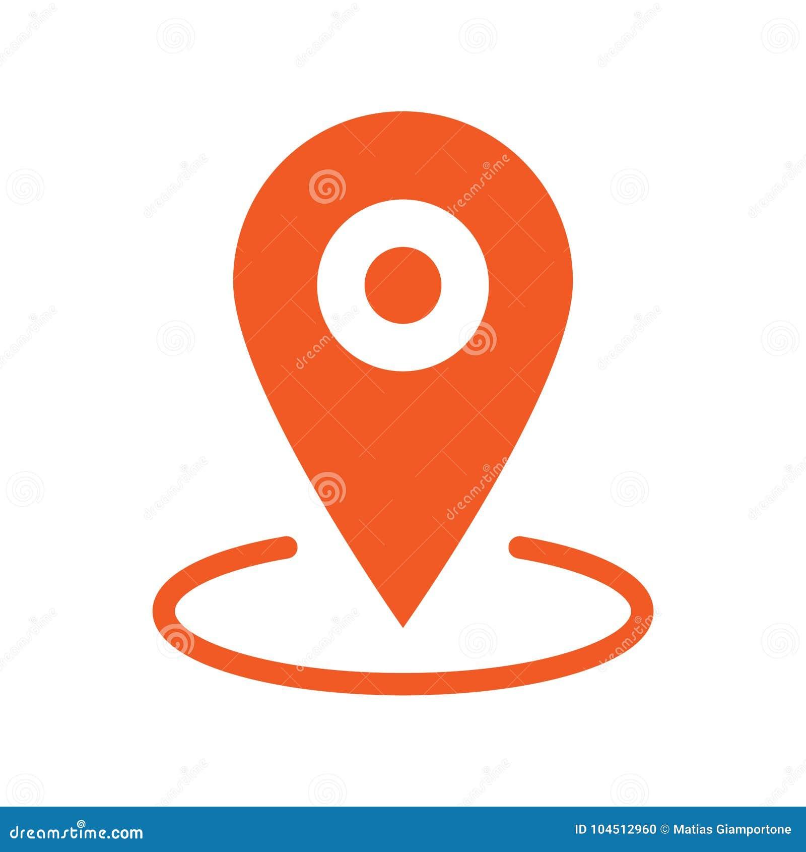 Gps markier, mapy wałkowa ikona