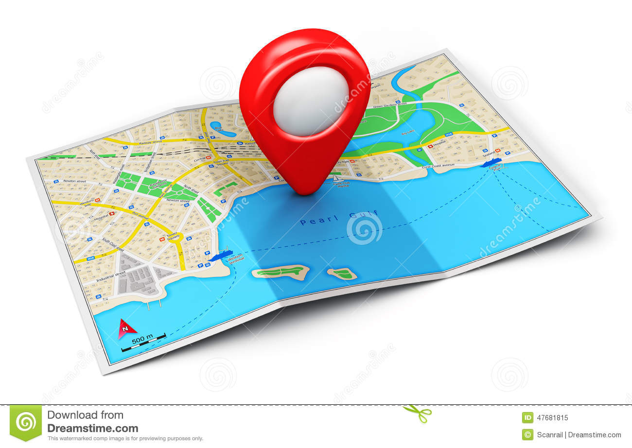 GPS Navigation Concept Stock Illustration. Illustration Of Direction