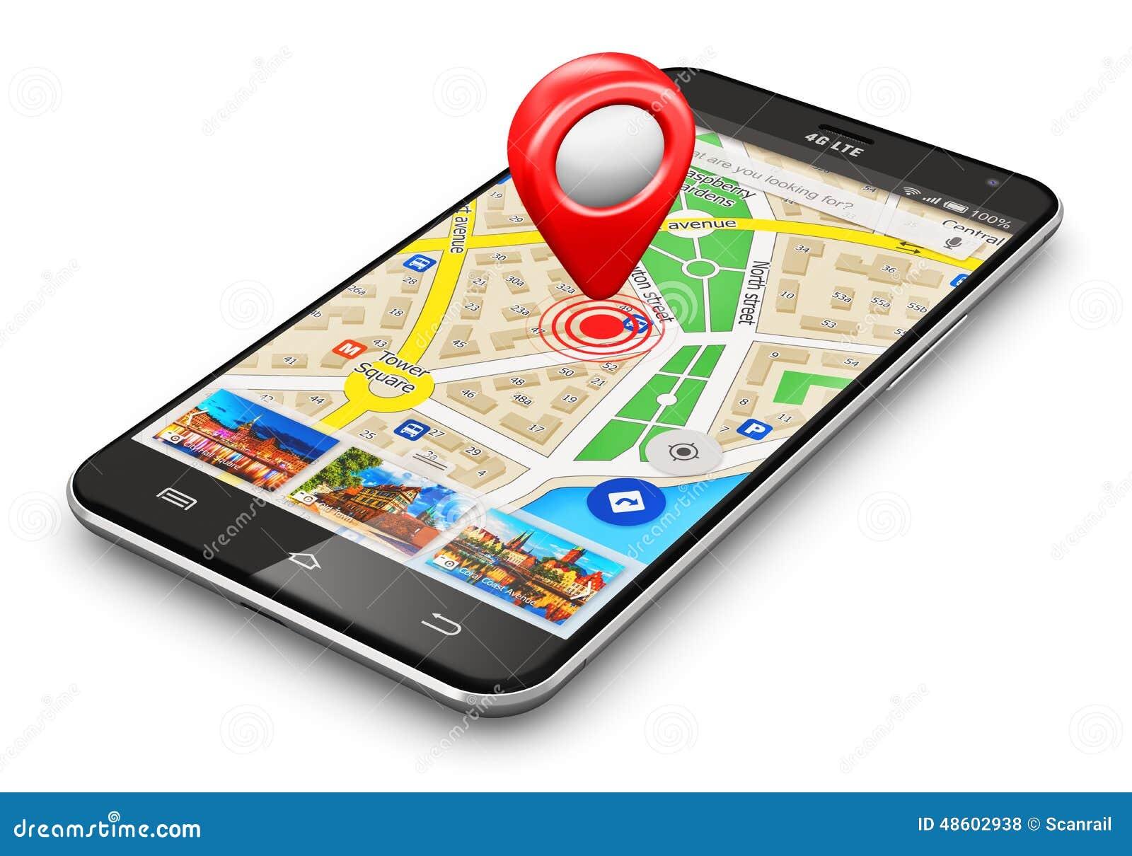 GPS navigation concept stock illustration. Illustration of ...