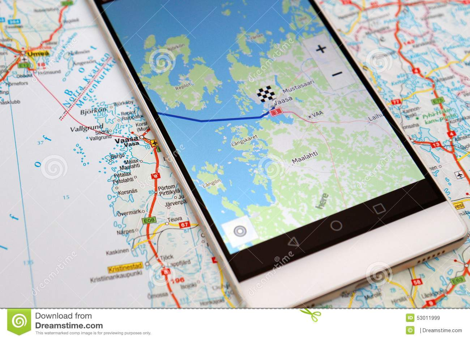 GPS navigation map smartphone