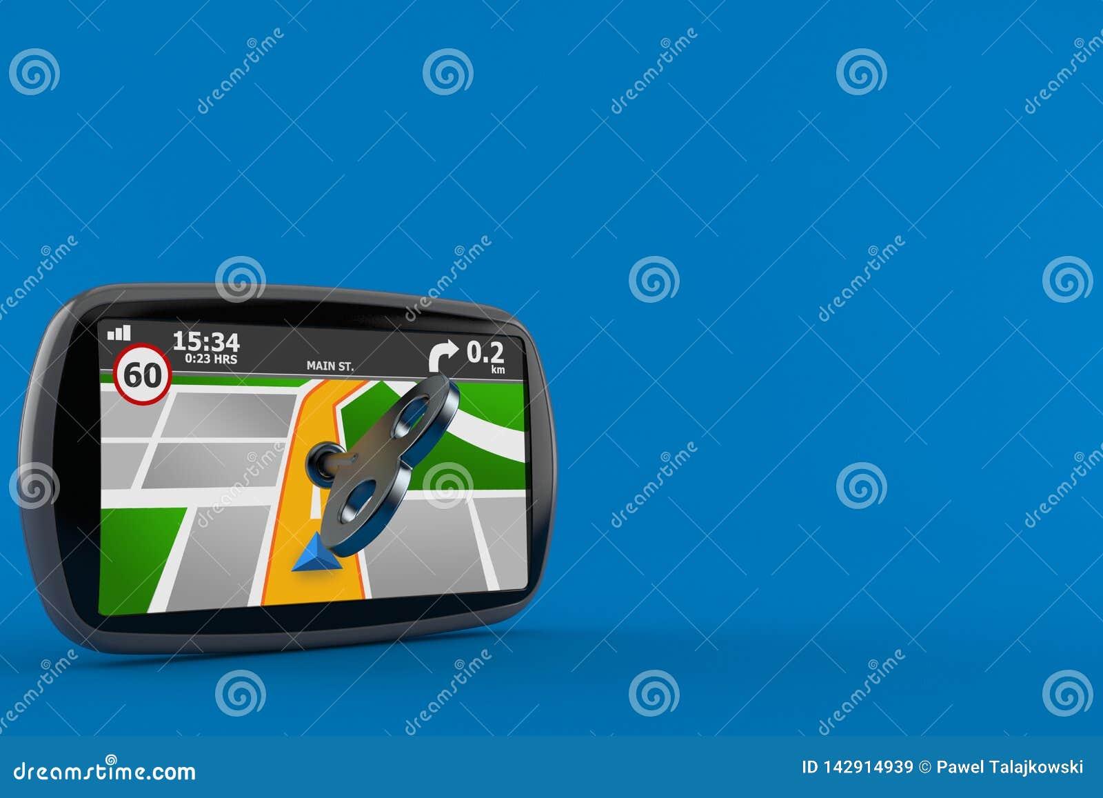 GPS navigering med urverktangent