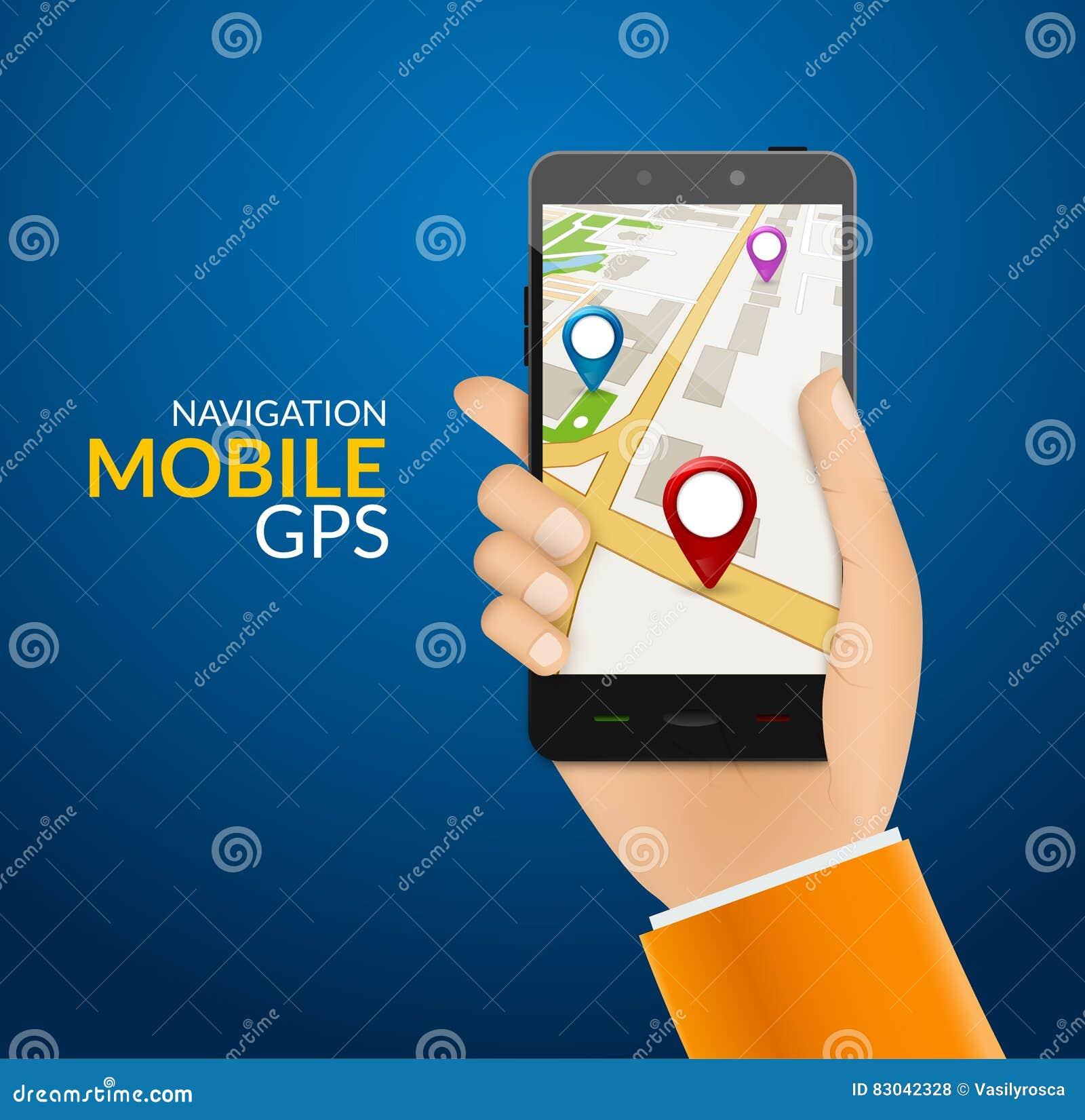 GPS Phone Navigation - Mobile Gps And Tracking Concept  Hand