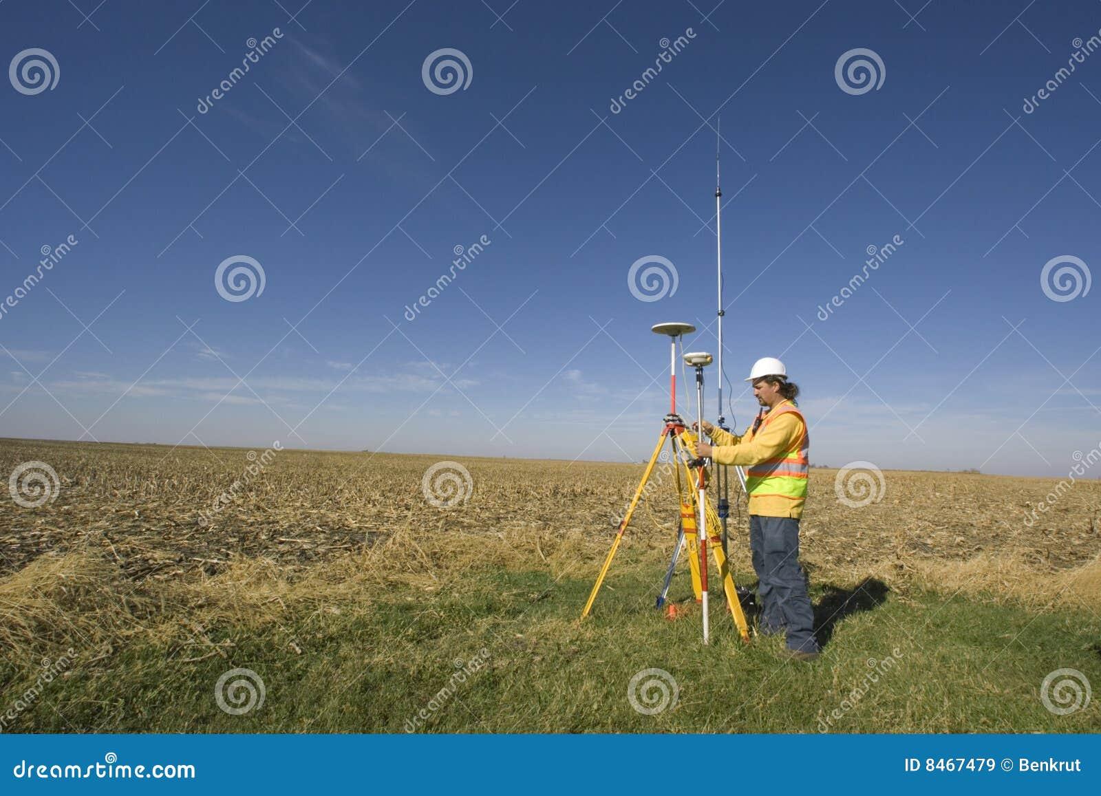 GPS survey stock image  Image of cartographer, surveying - 8467479