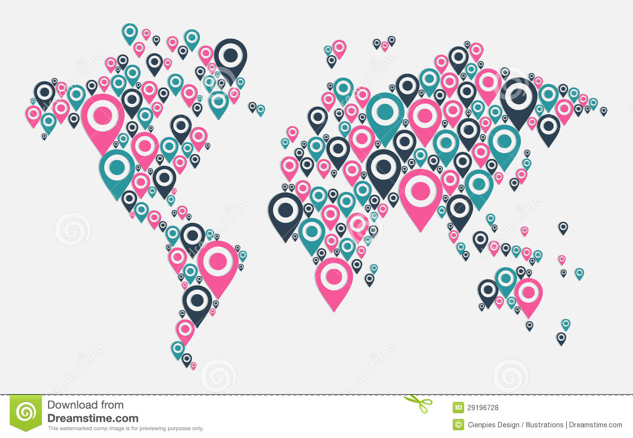 Gps world map concept stock vector illustration of design 29196728 gps world map concept royalty free stock photo gumiabroncs Image collections