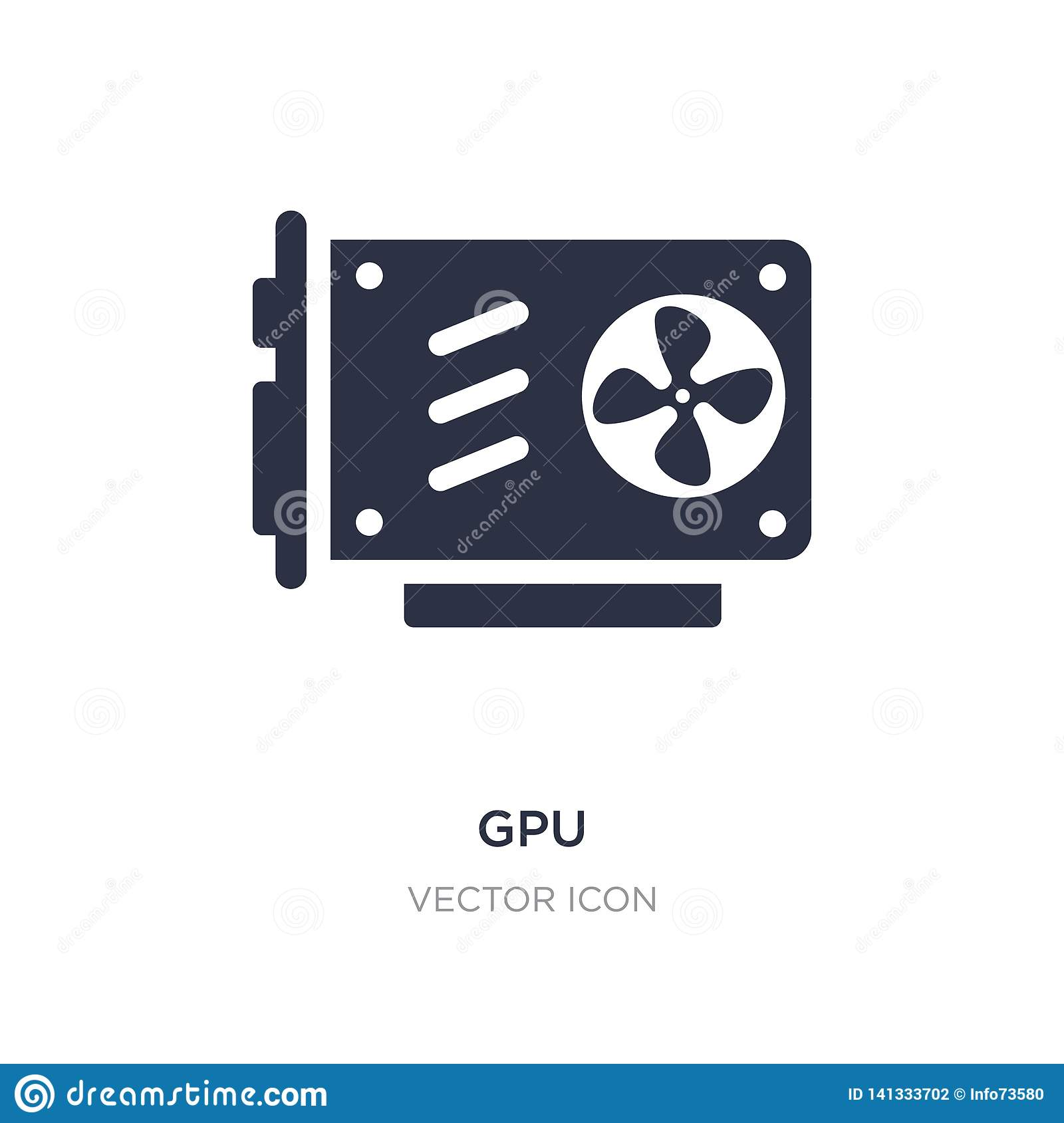 gpu icon on white background. Simple element illustration from Hardware concept