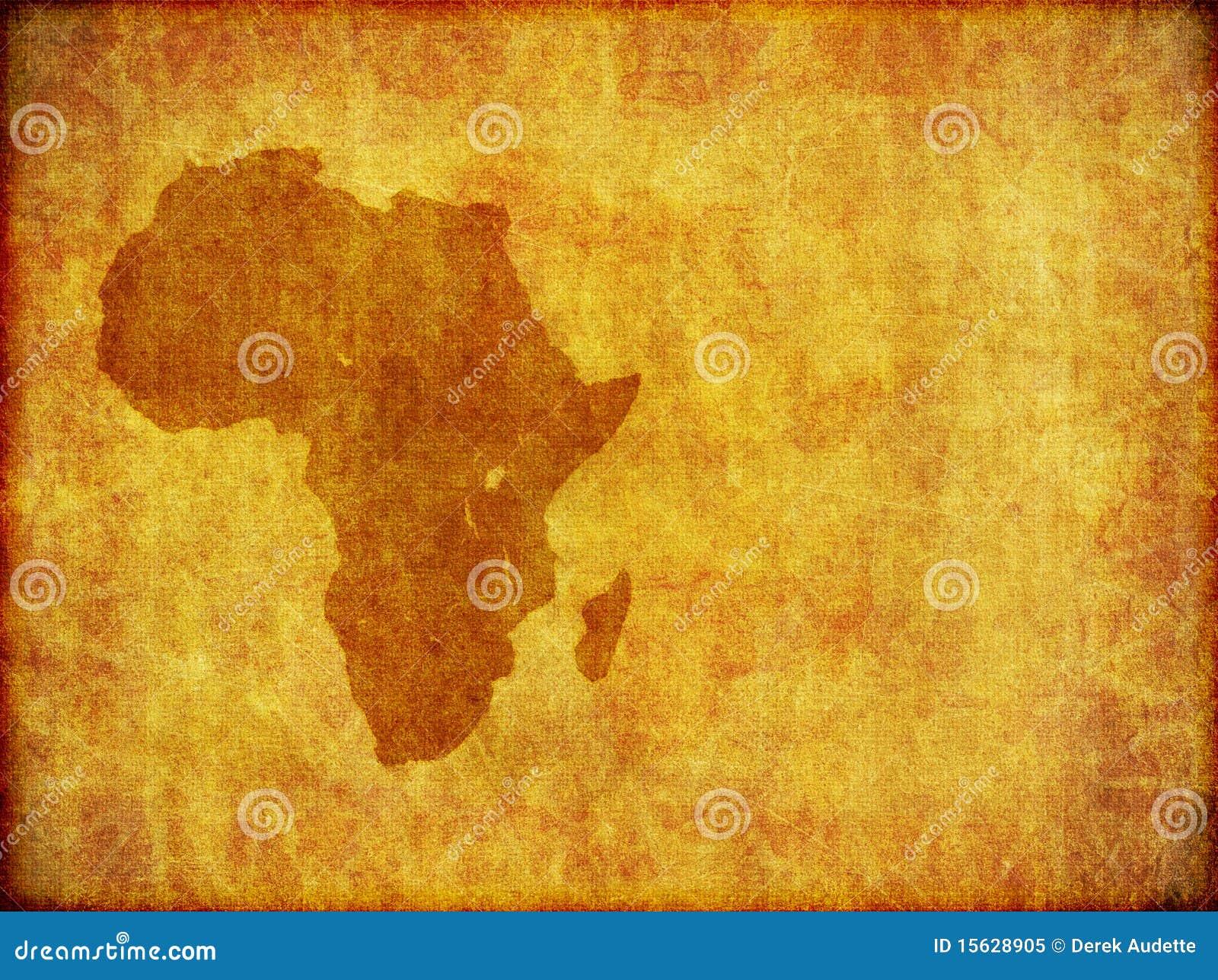 Gráfico africano do fundo de Grunge do continente