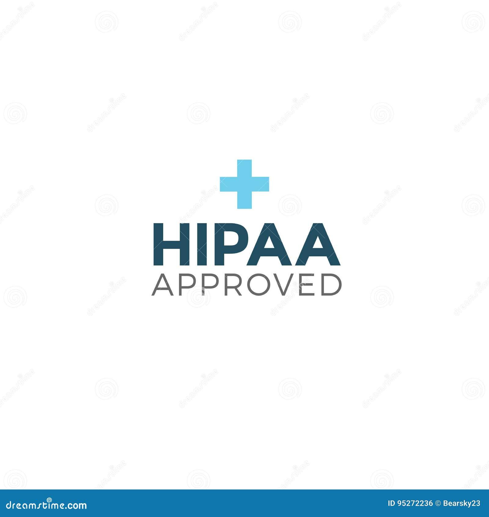 Gráfico aprovado do ícone da aprovação ou da conformidade de HIPAA