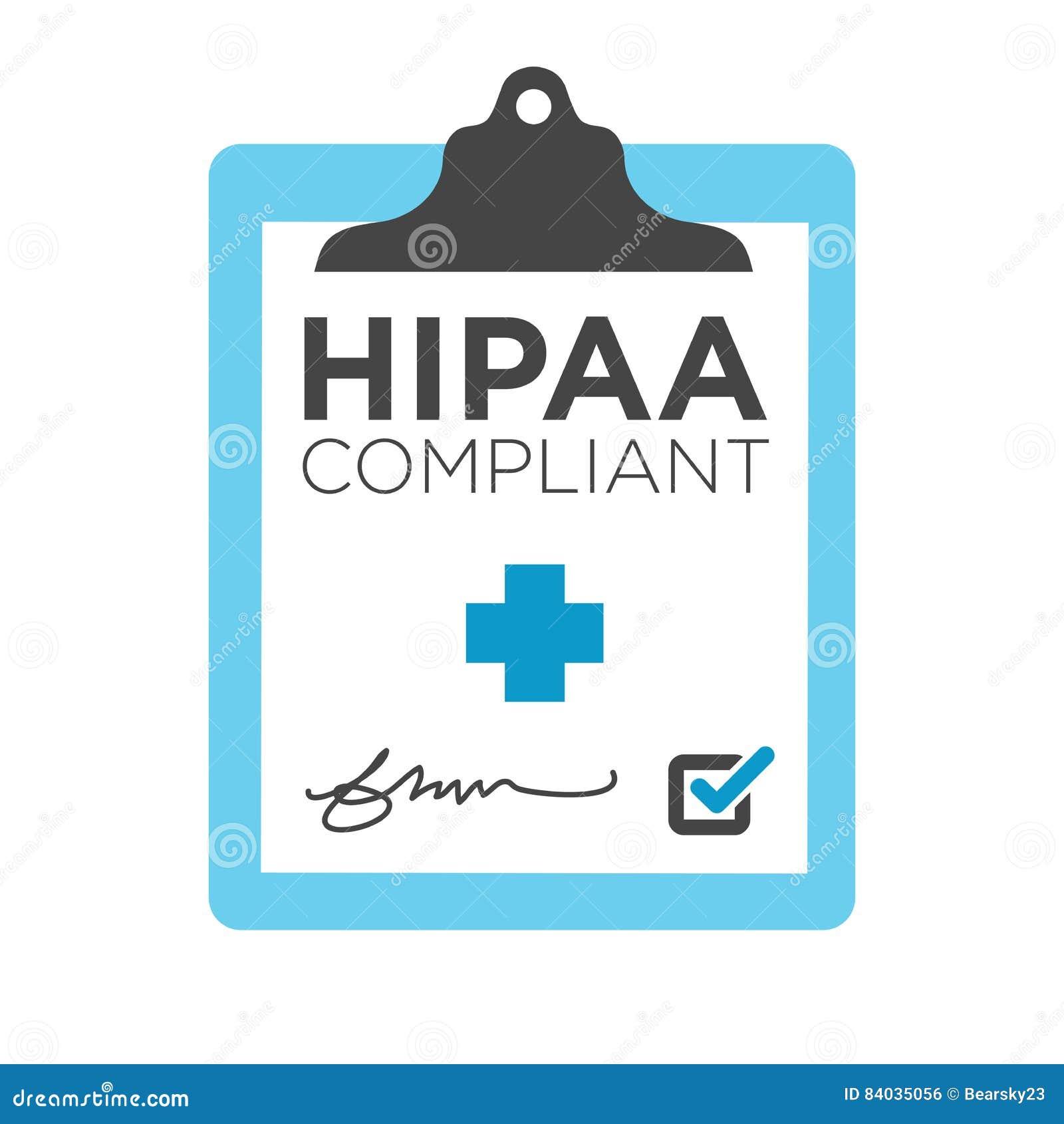 Gráfico da conformidade de HIPAA