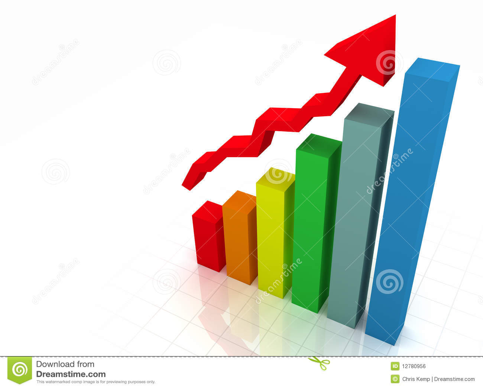 Gráfico De Barra 3D W/Arrow Stock de ilustración - Ilustración de ...
