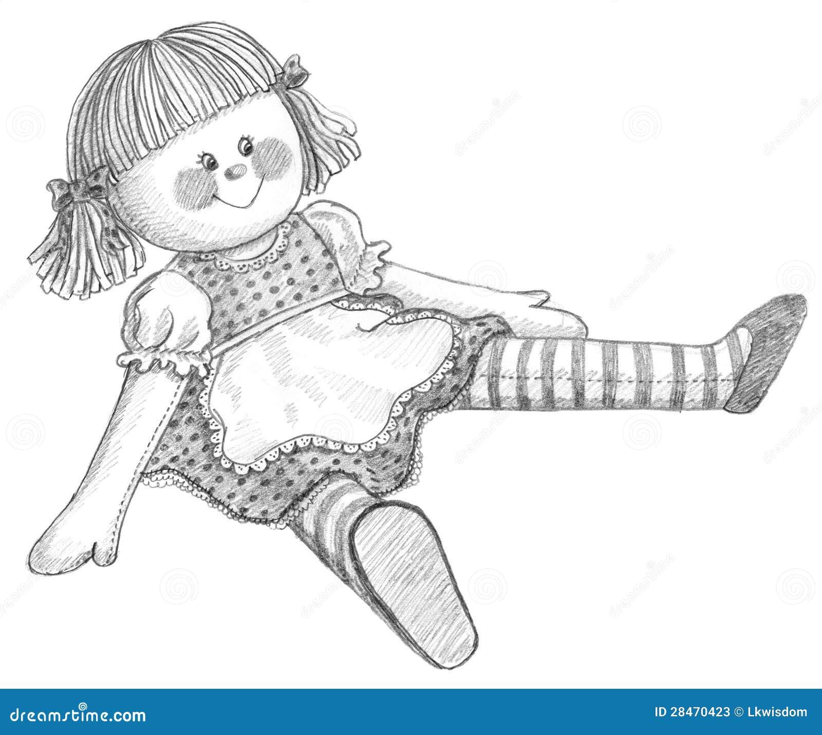 Gráfico de lápiz de la muñeca