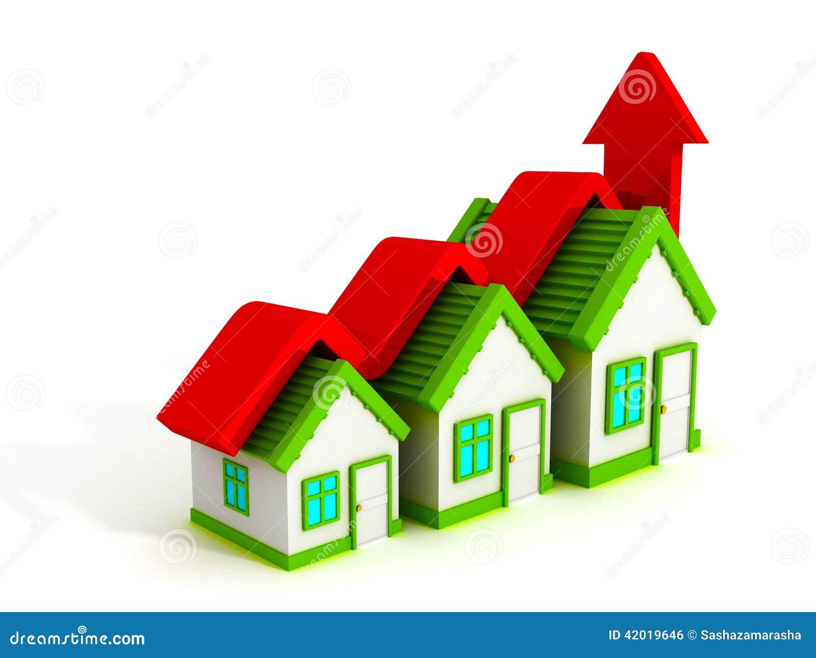 Gr fico de la casa del concepto de las propiedades for Inmobiliaria o inmobiliaria