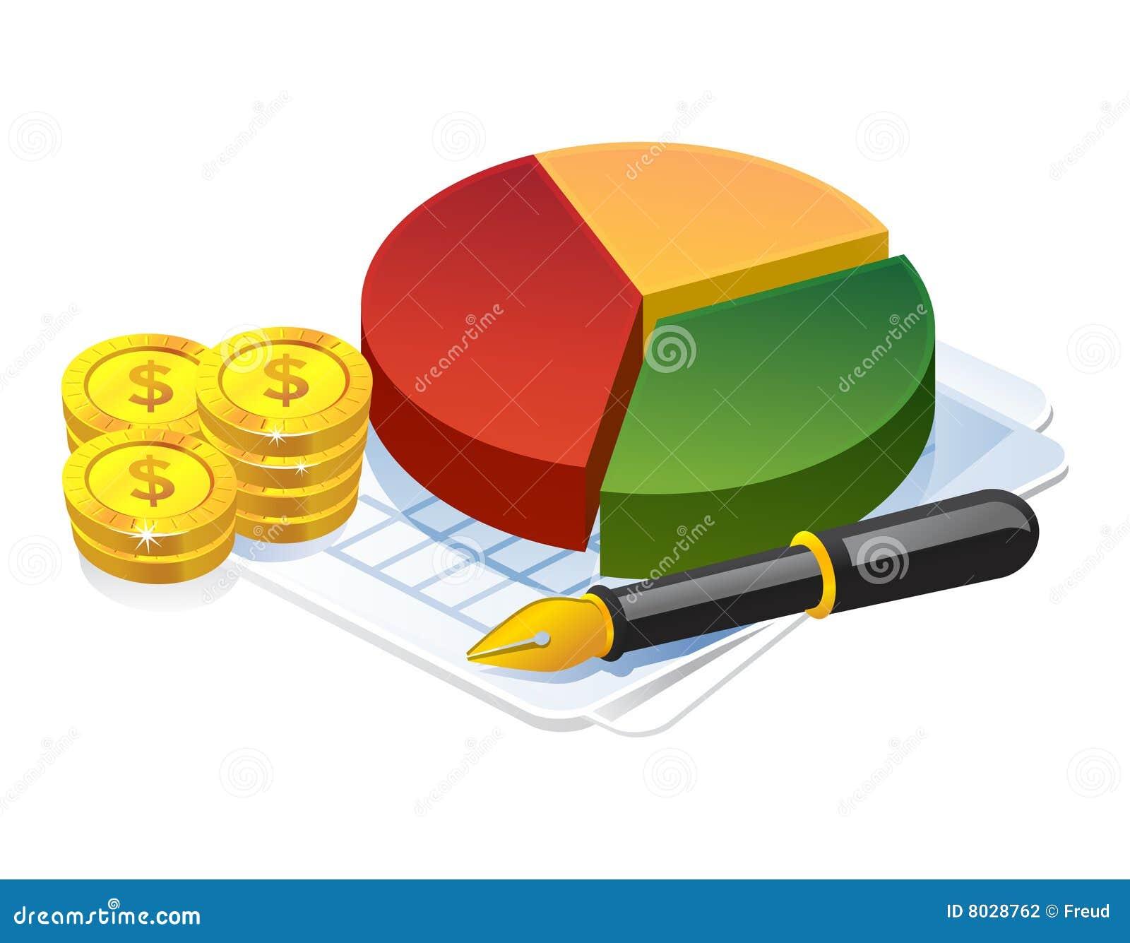 Gráfico de la empanada del beneficio de asunto
