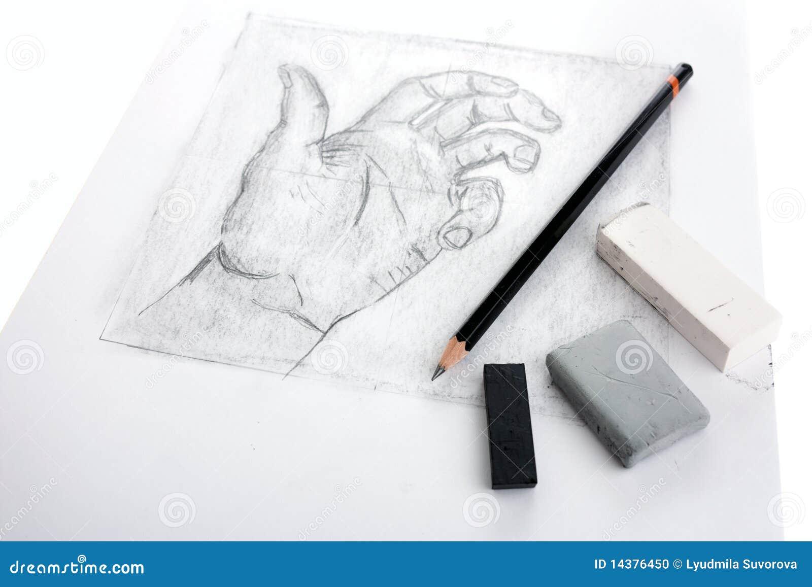 Gráfico de la mano con las herramientas
