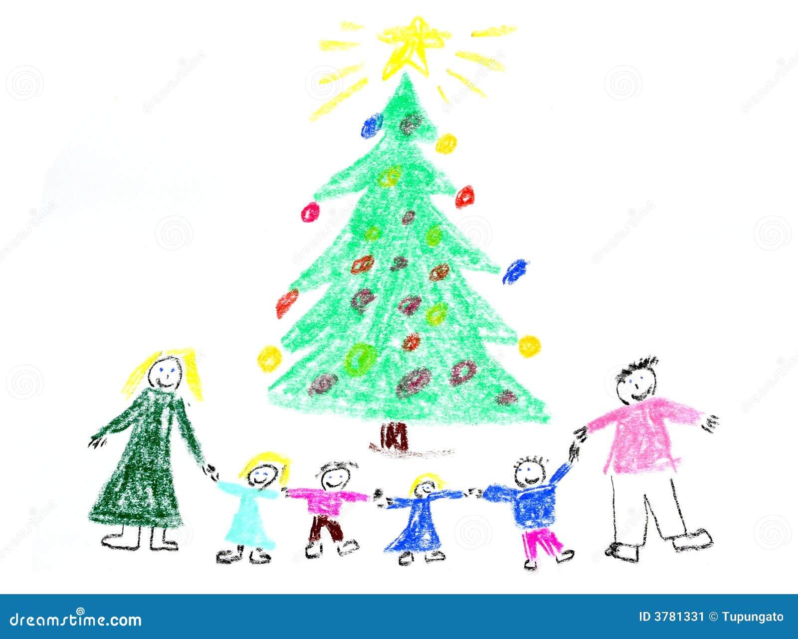 Gráfico de la Navidad de la familia