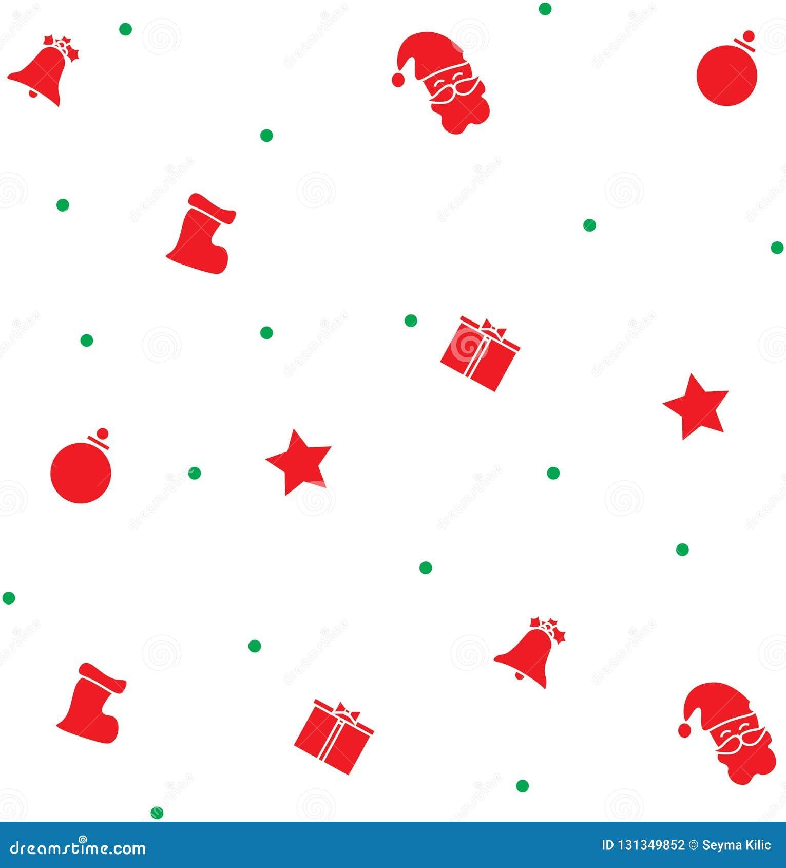 Gráfico de la Navidad del color rojo y verde