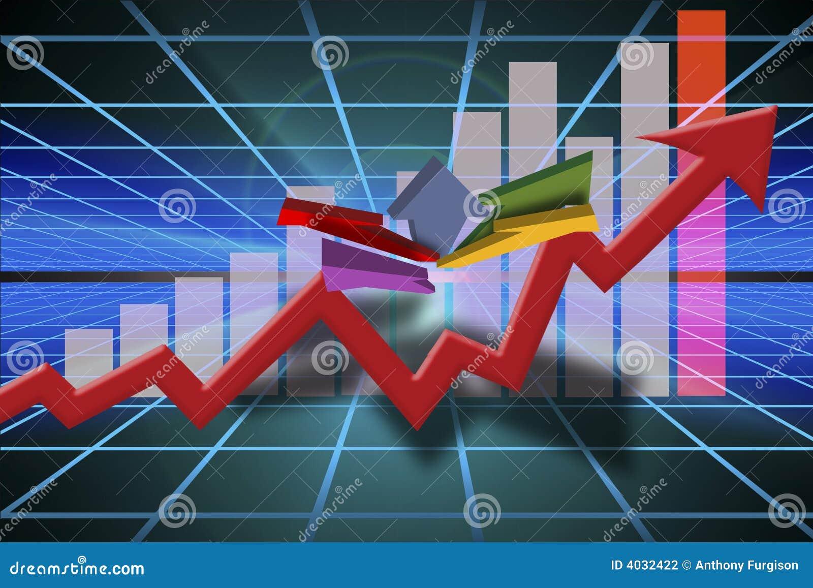 Gráfico de las ventas del asunto de la comercialización