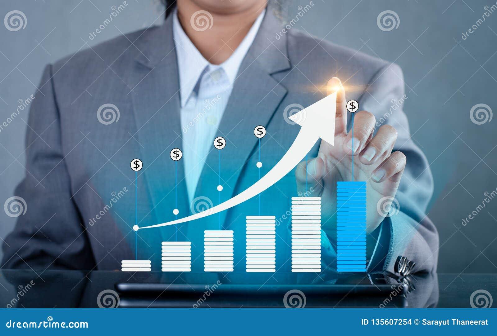 Gráfico de telefones das comunicações globais do crescimento e da imprensa espertos binários financeiros do Internet do mundo o t