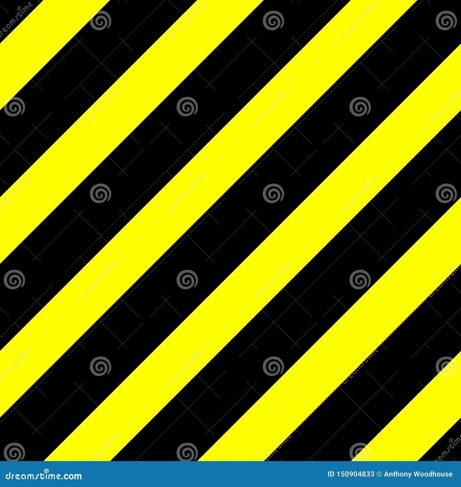 Gráfico de vector inconsútil de líneas diagonales negras en un fondo amarillo Esto significa peligro o un peligro