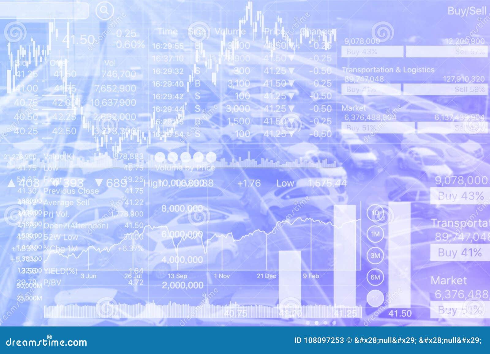 Gráfico del índice de existencias de la inversión del transporte en pendiente azul