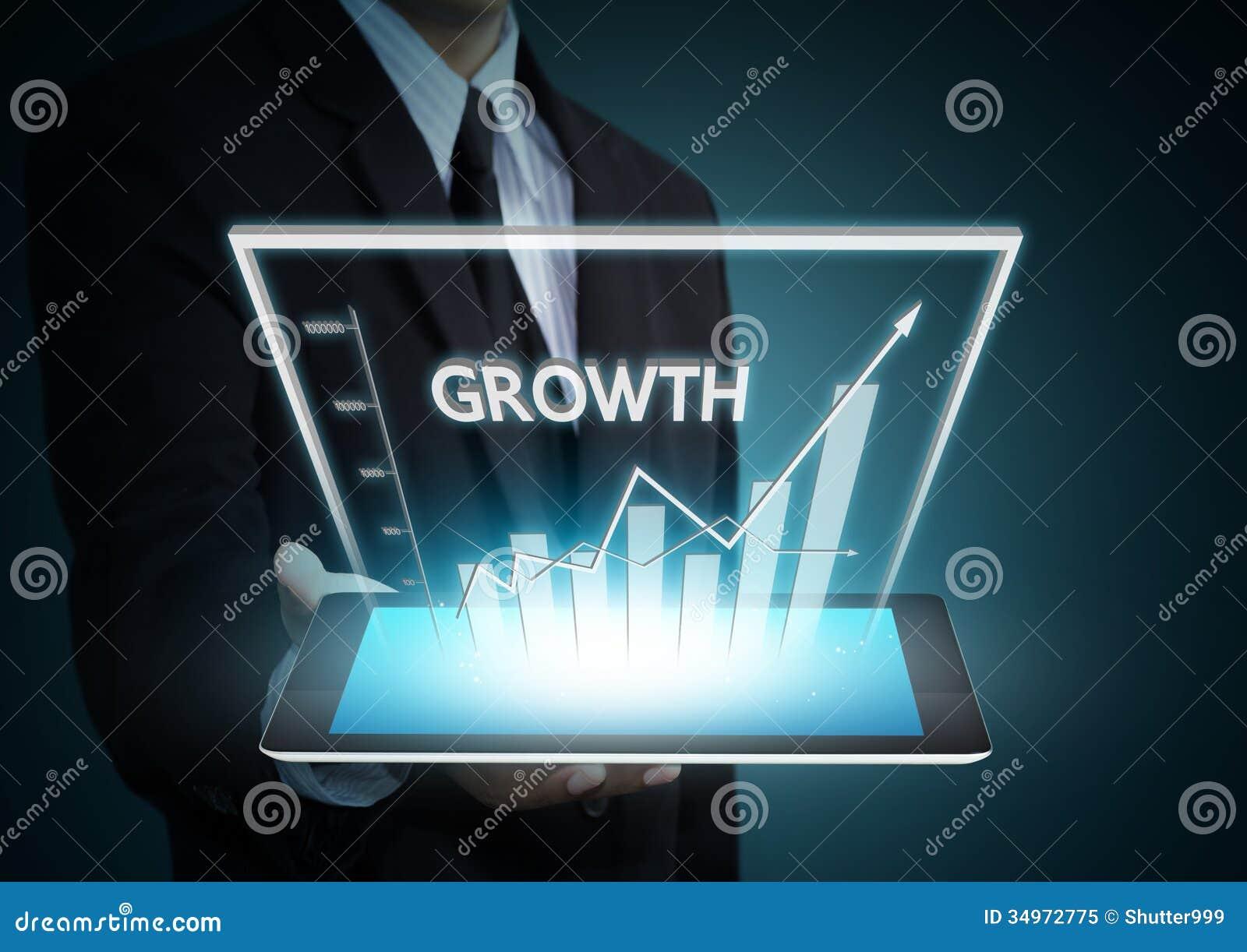 Gráfico del crecimiento en tecnología de la tableta