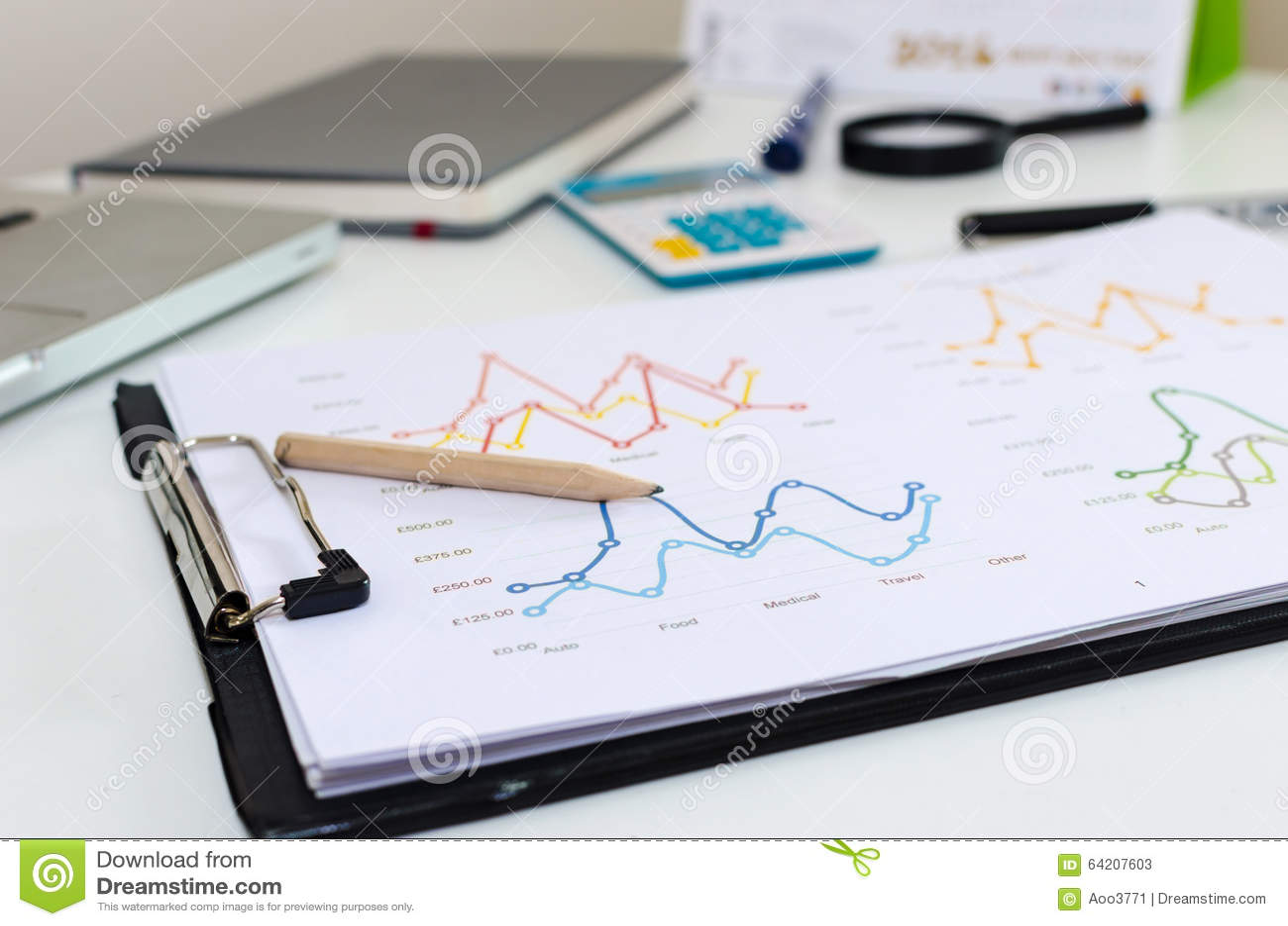 Gráfico del escritorio de oficina