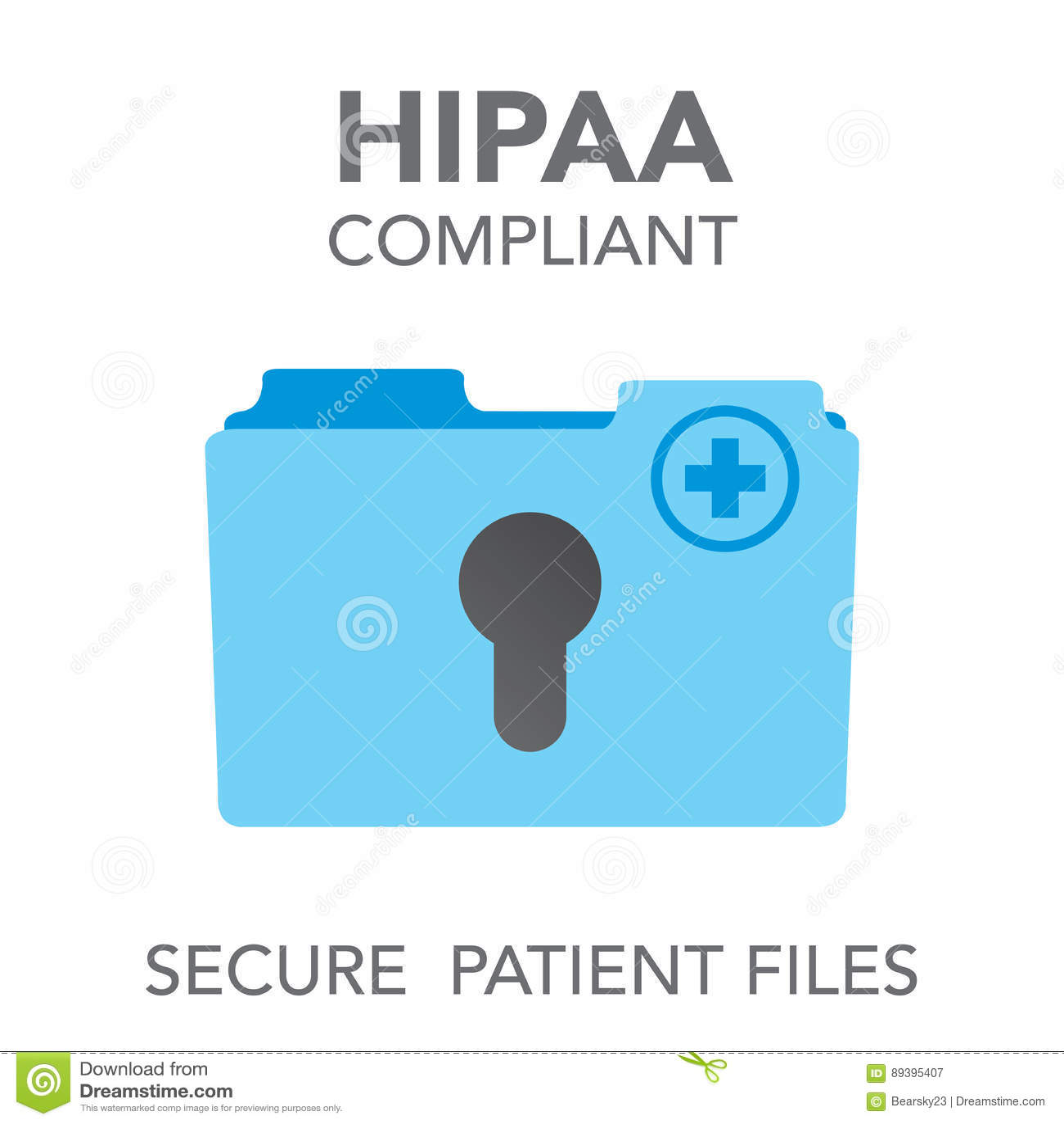 Gráfico del icono de la conformidad de HIPAA