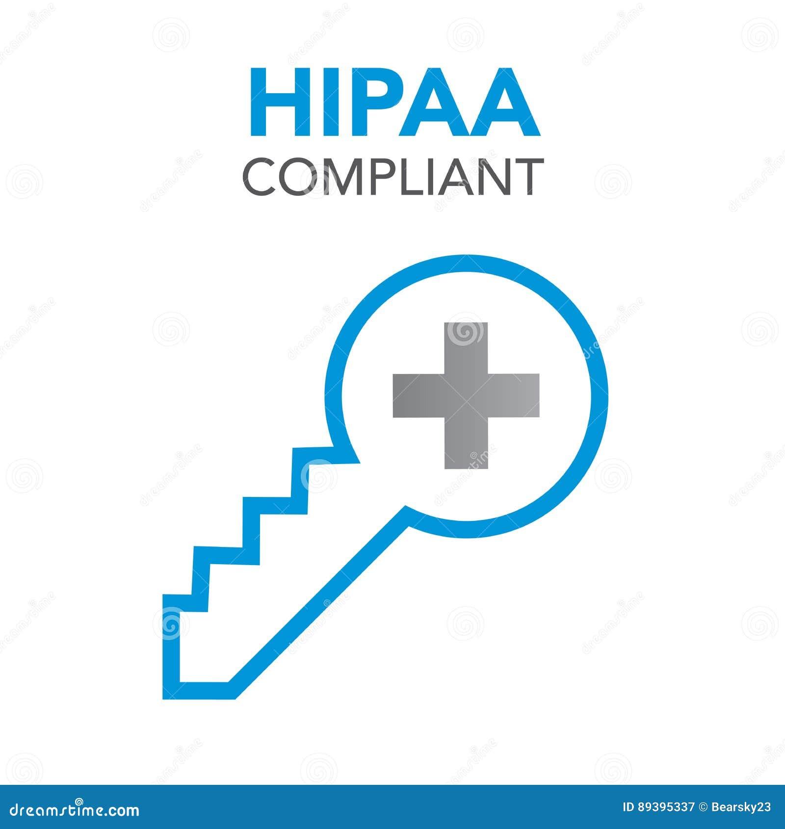 Gráfico do ícone da conformidade de HIPAA
