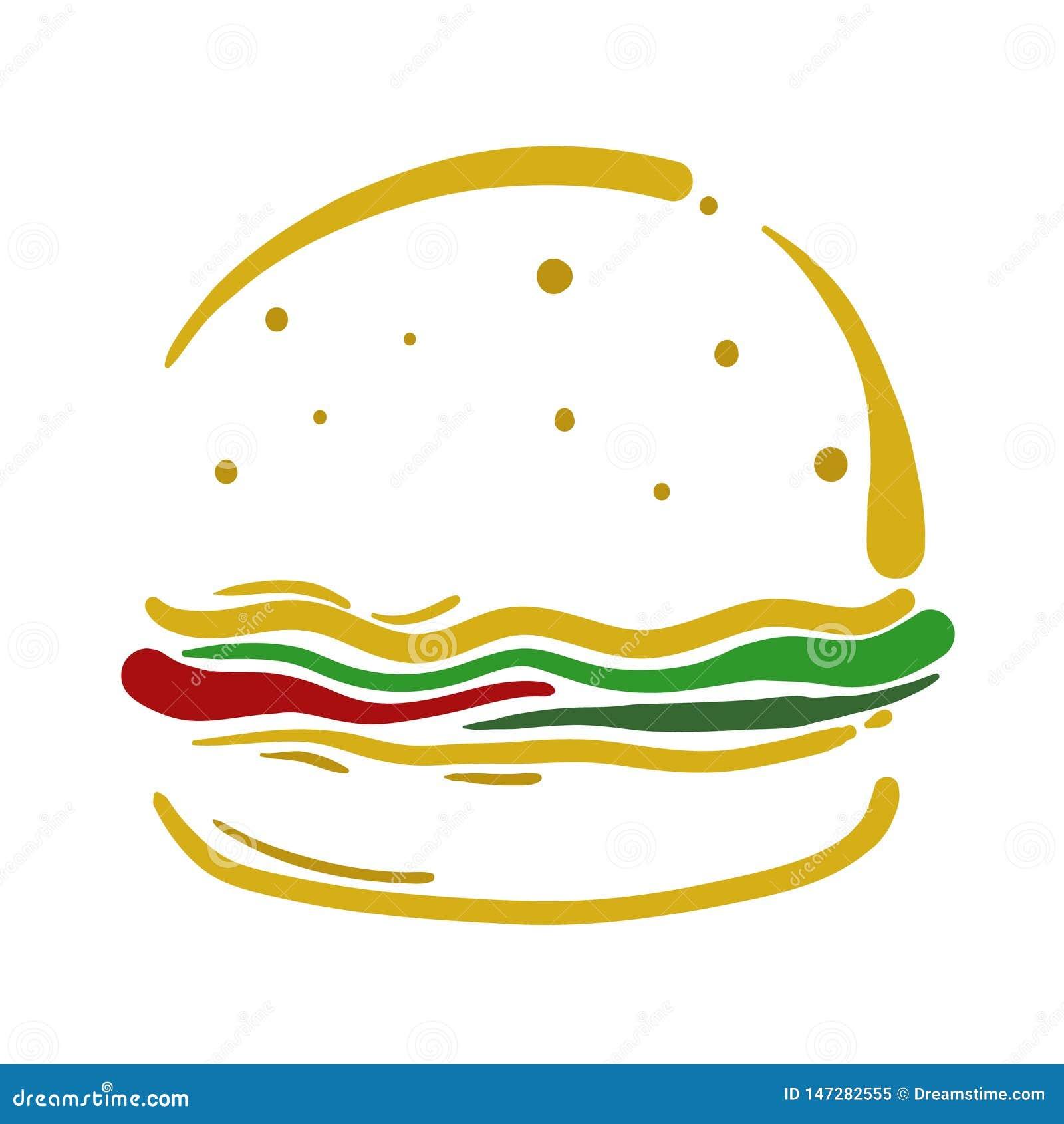 Gráfico do projeto da ilustração do vetor do Hamburger