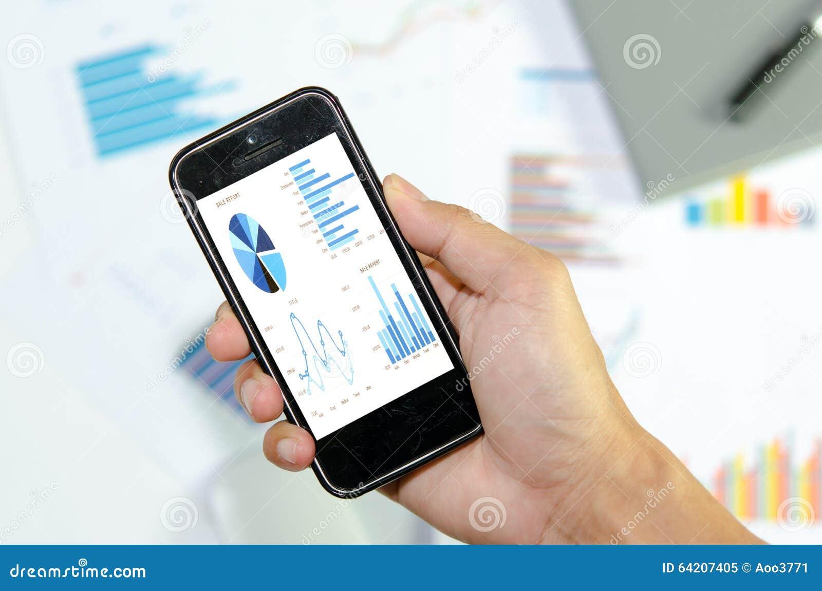 Gráfico elegante del teléfono