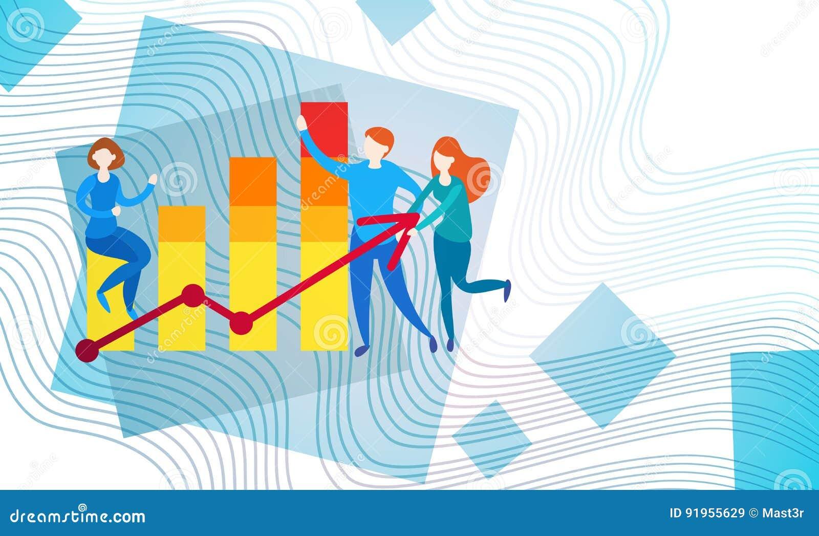 Gráfico financiero del análisis de Finance Business Data del contable de actividades bancarias de los empresarios