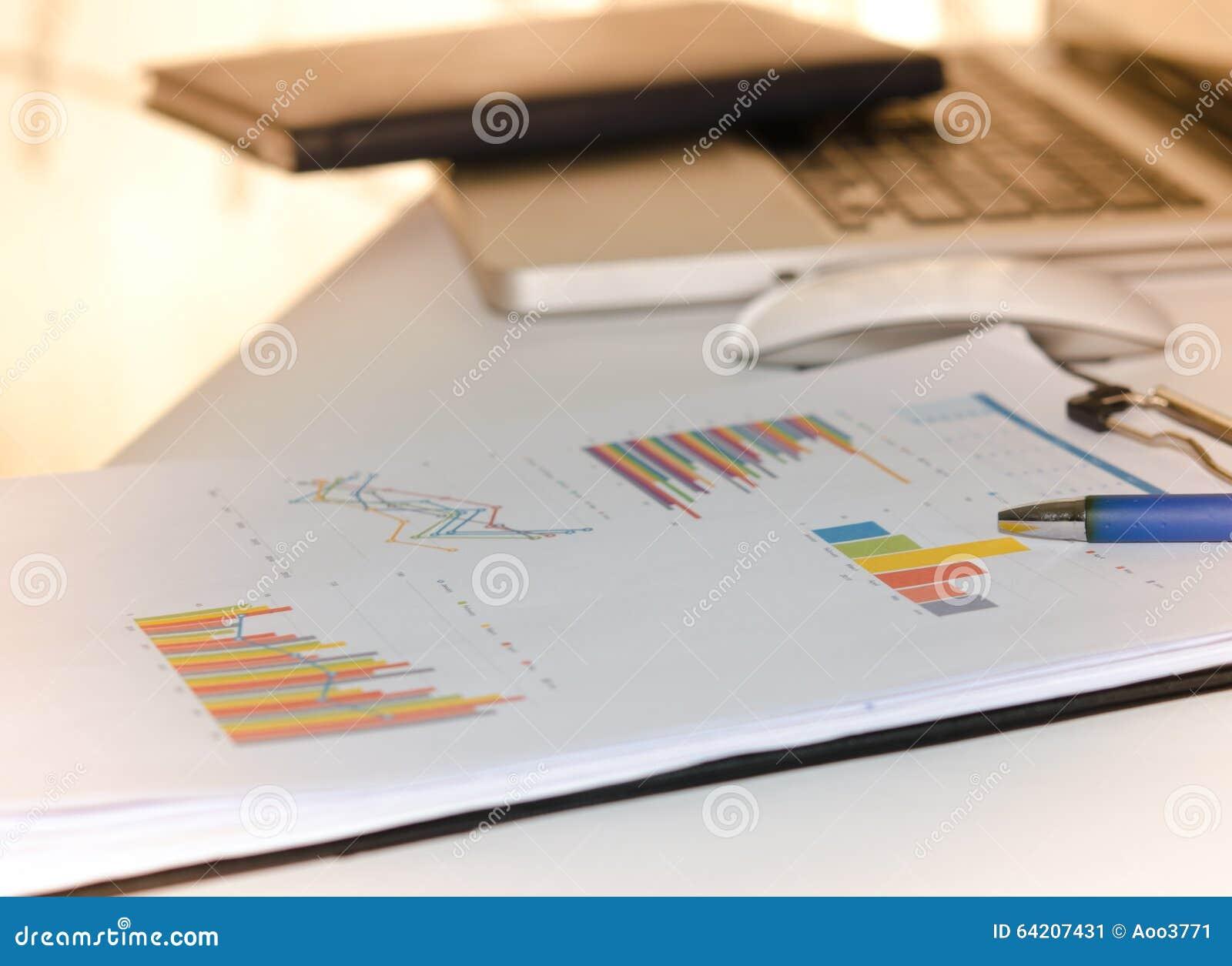 Gráfico financiero del negocio