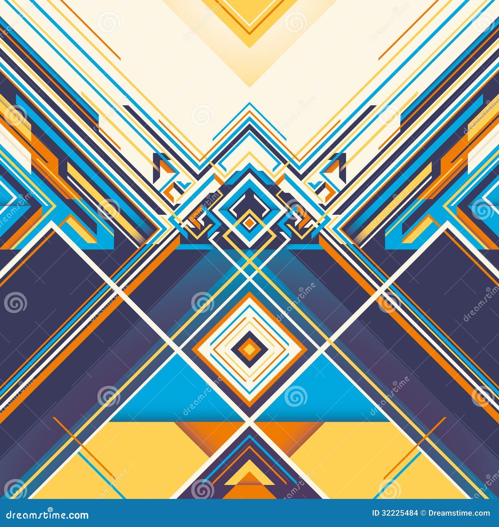 Download Gráfico Geométrico Colorido. Ilustração do Vetor - Ilustração de cabeçalho, colorido: 32225484