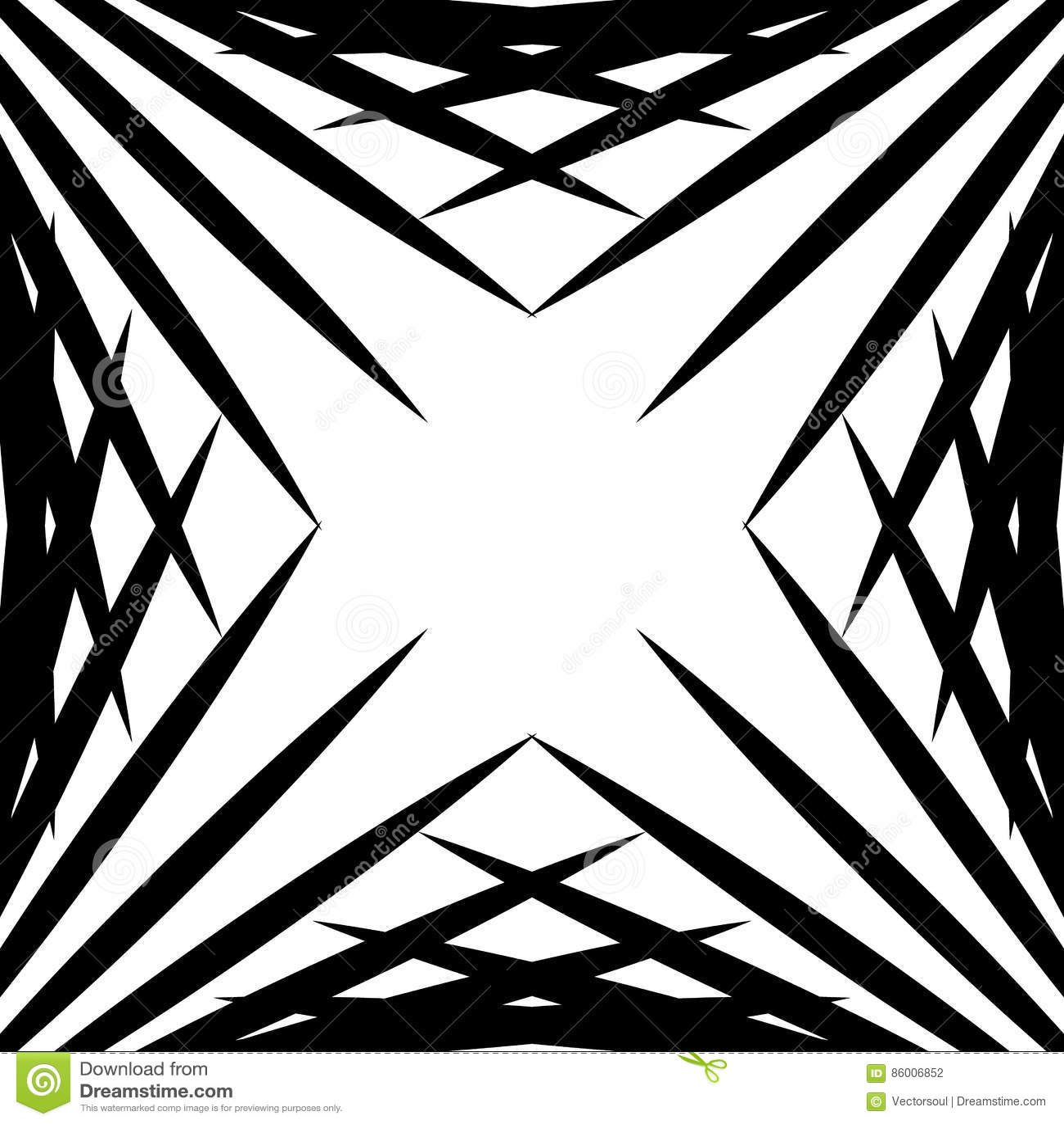 Gráfico geométrico Squarish hecho de líneas acentuadas Geométrico nervioso