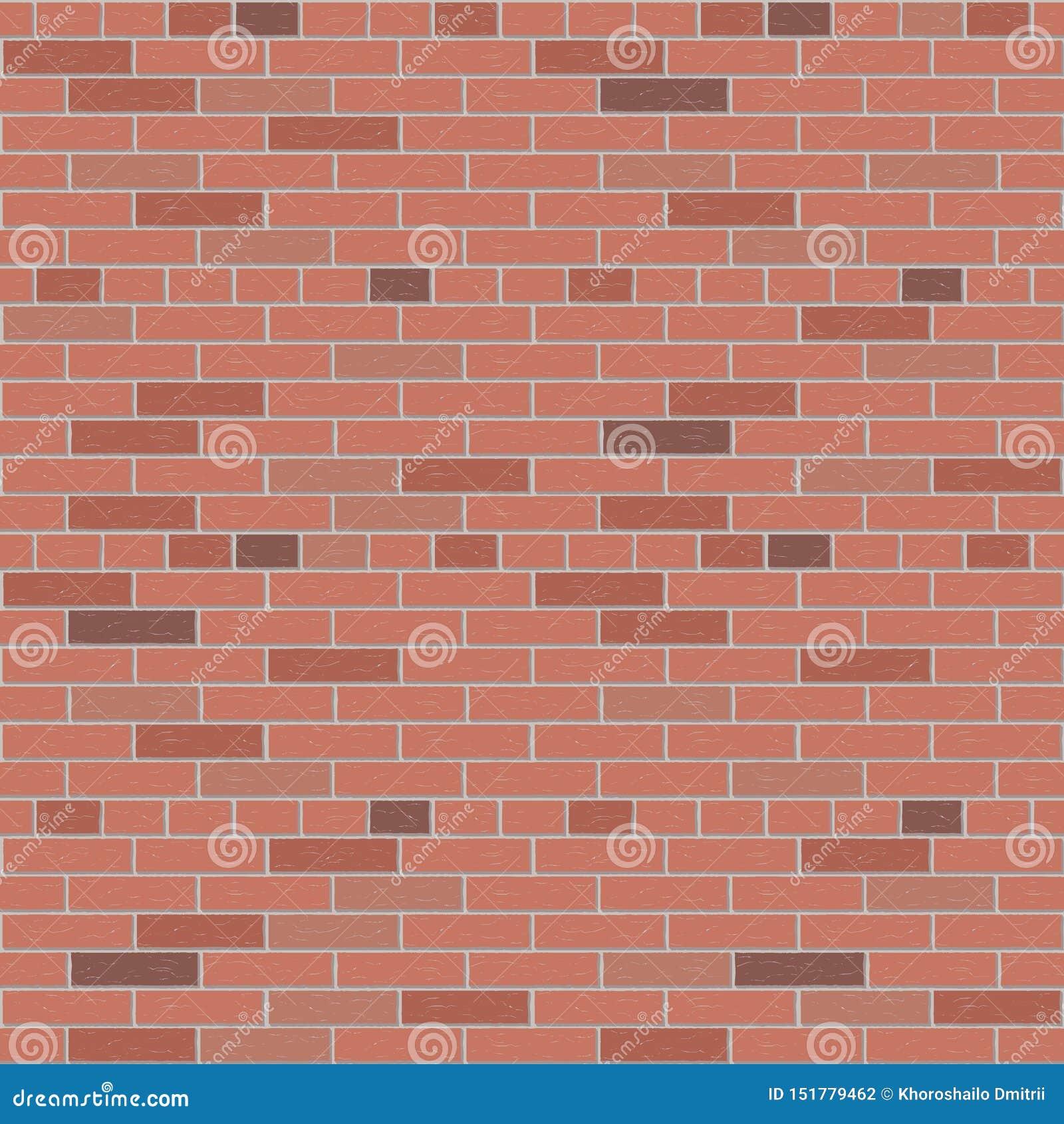 Gráfico interior do teste padrão do vetor da parede de tijolo vermelho