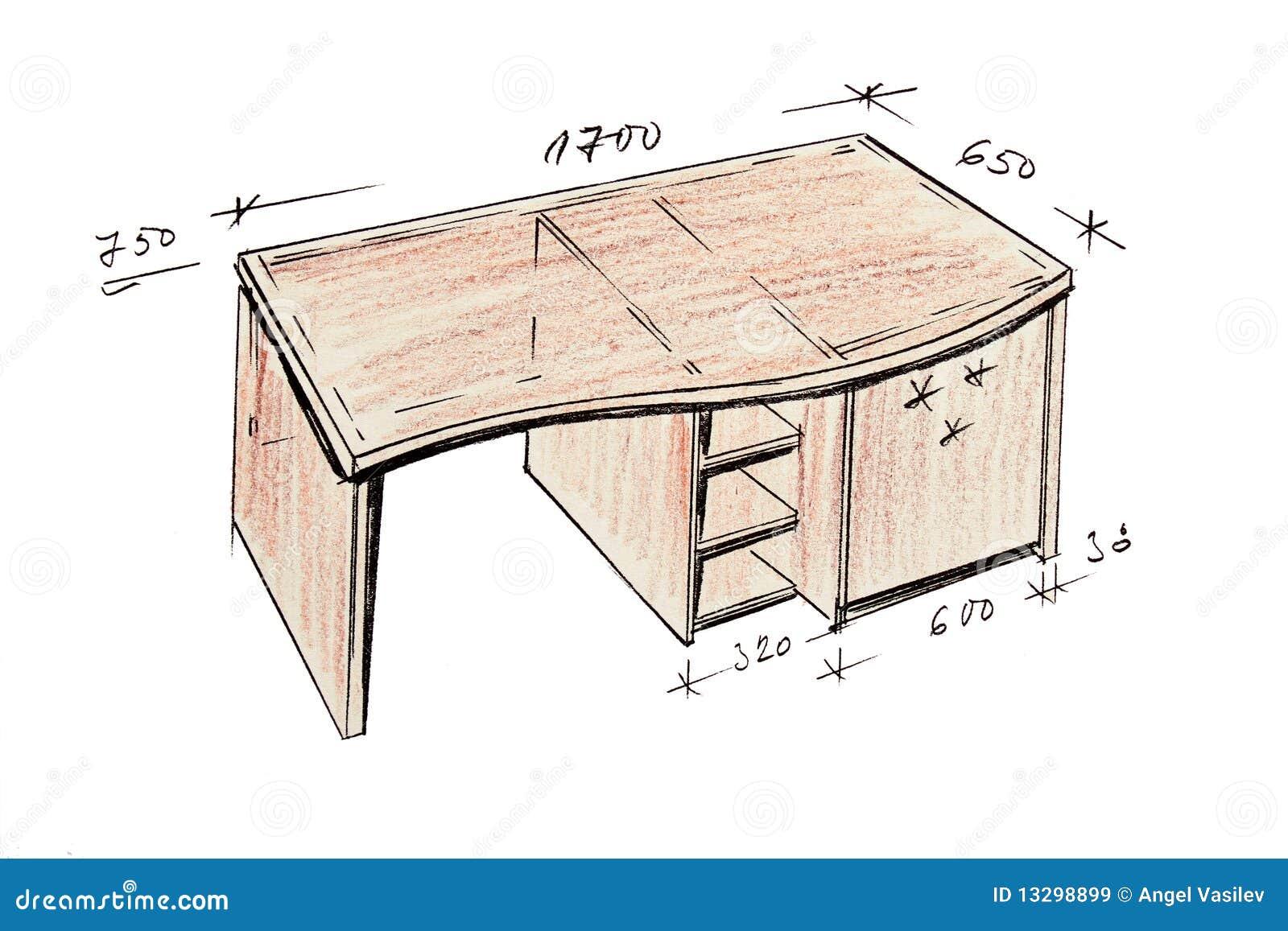 Gr fico a pulso del escritorio moderno del dise o interior for Escritorios para disenadores