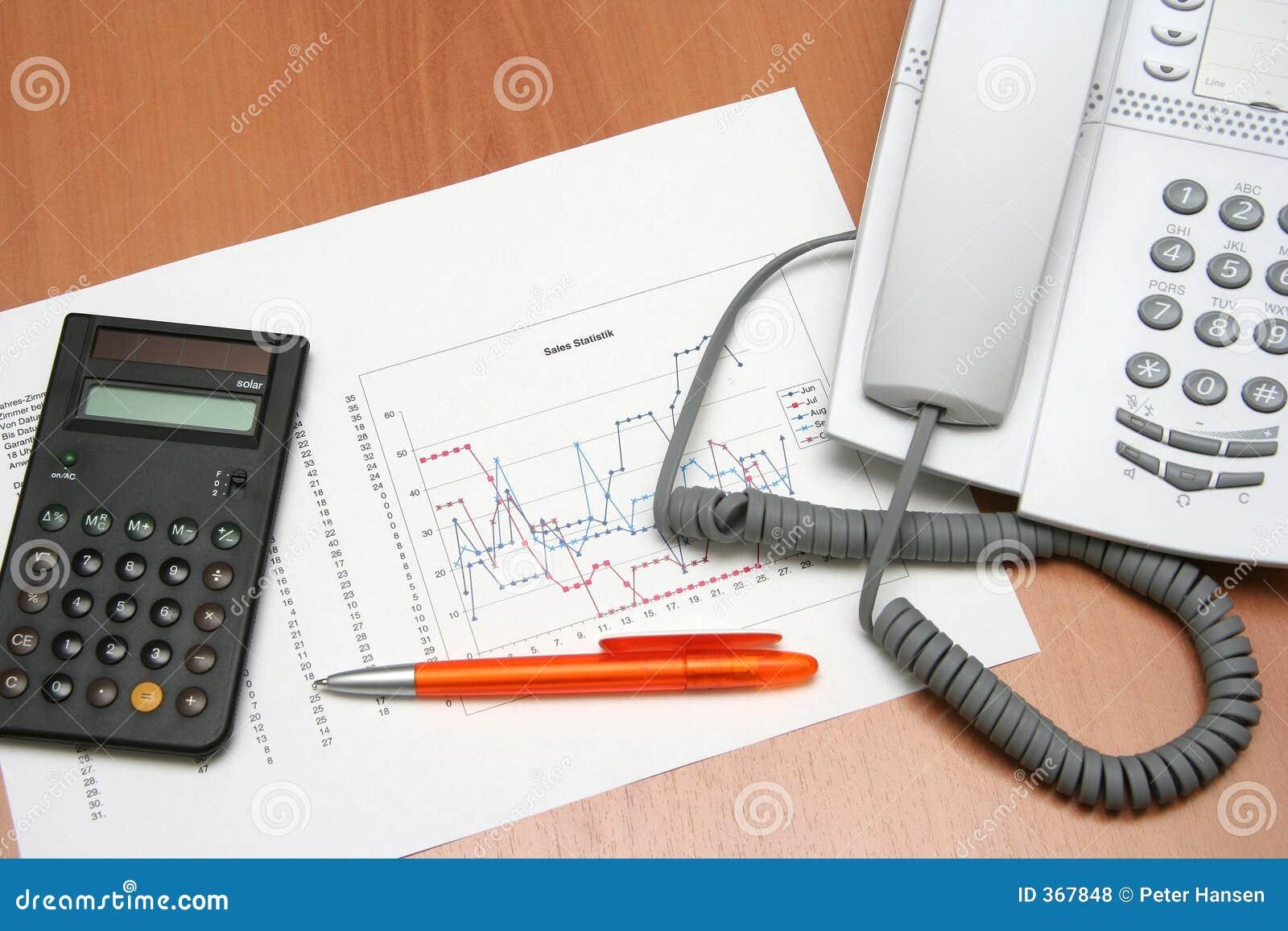 Gráfico y calculadora II del teléfono