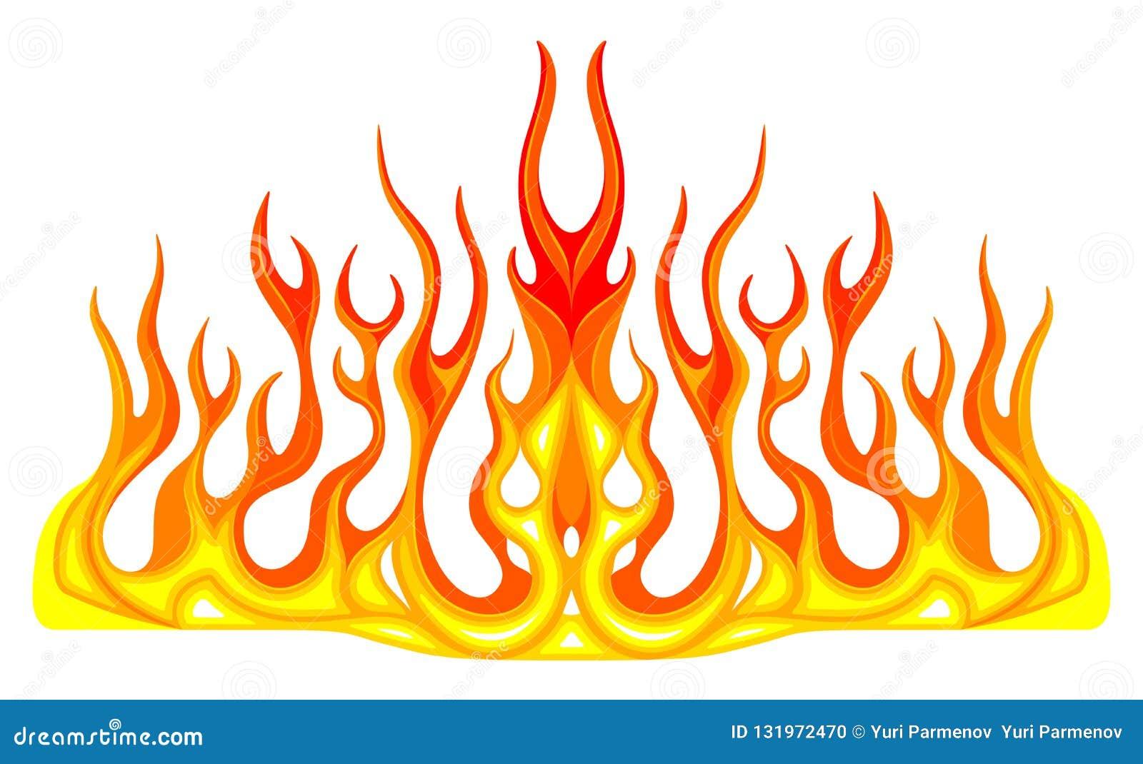 Gráficos del vehículo, raya: Rod Racing Flame caliente, etiqueta del coche de la pintada, vinilo listo en la capilla de un coche