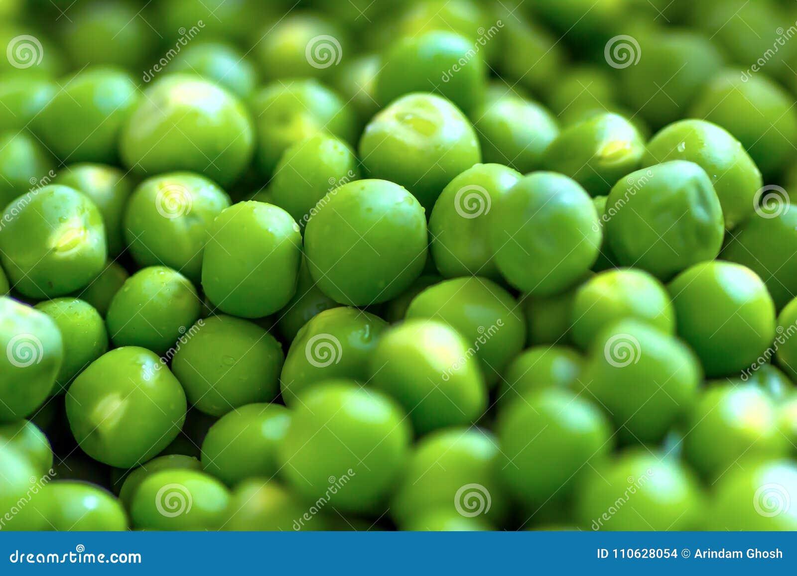 Grânulos da ervilha verde