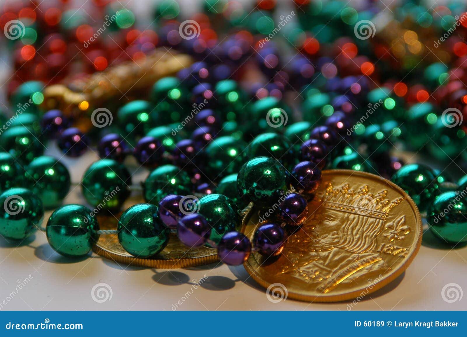 Grânulos e moedas do carnaval