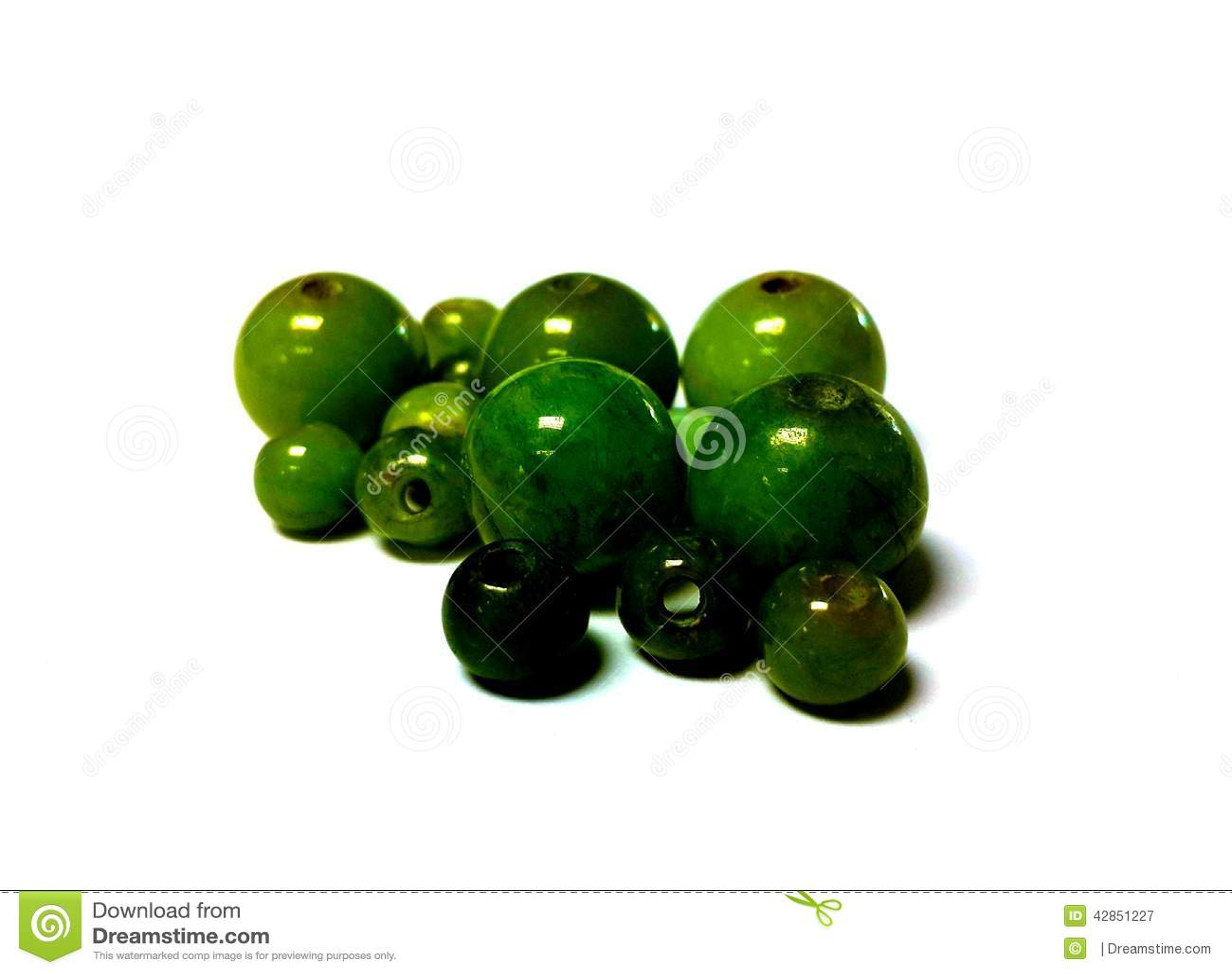 Grânulos isolados do jade