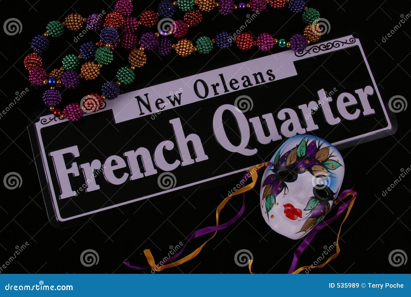 Grânulos, máscara e bairro francês