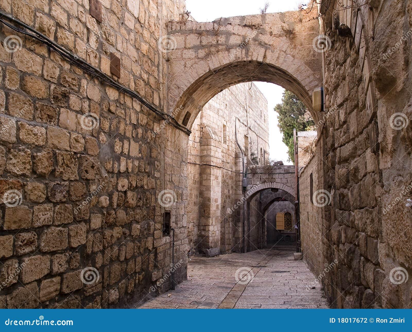 Grändstad israel gammala jerusalem