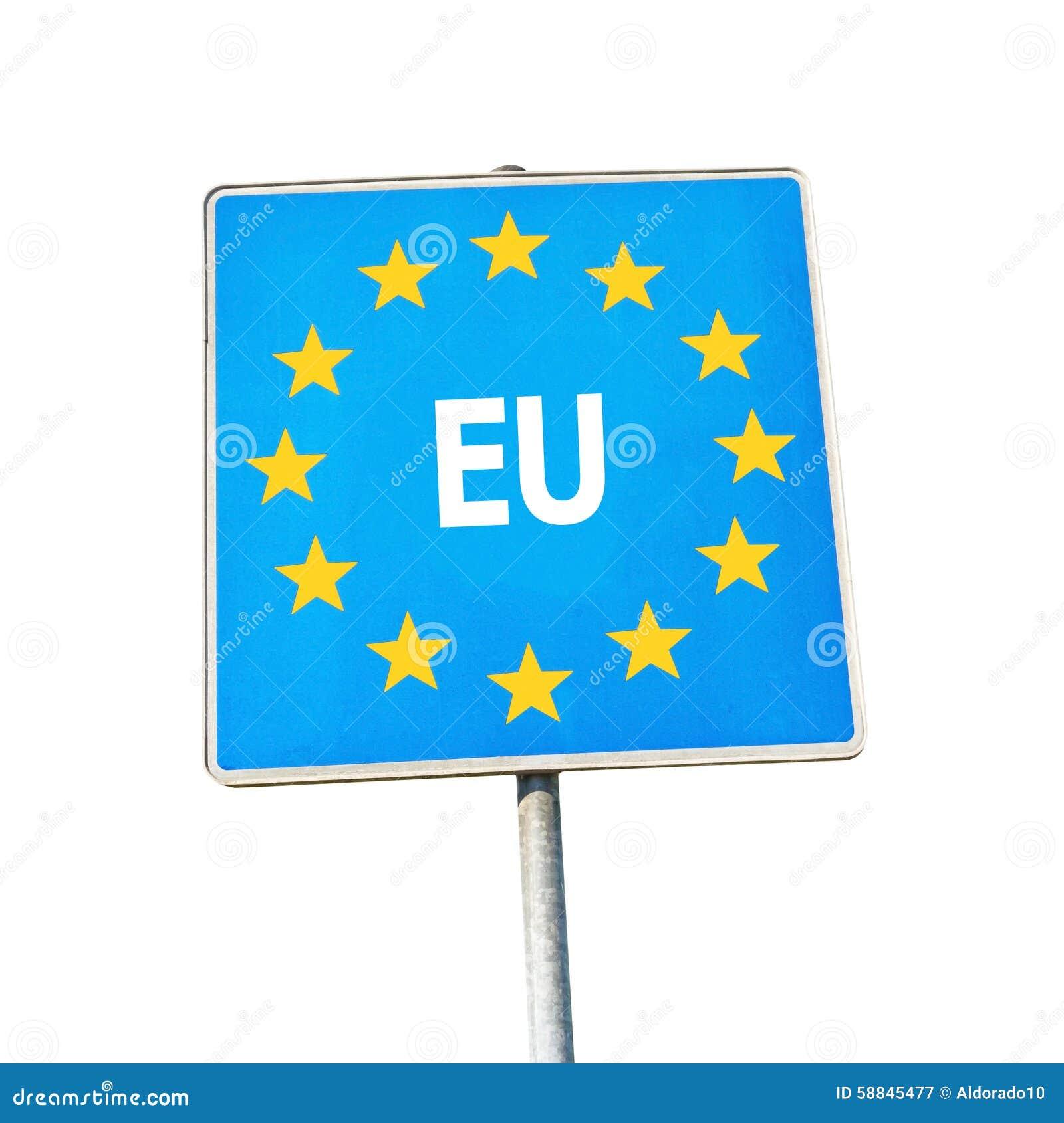 Gränstecken av Europa