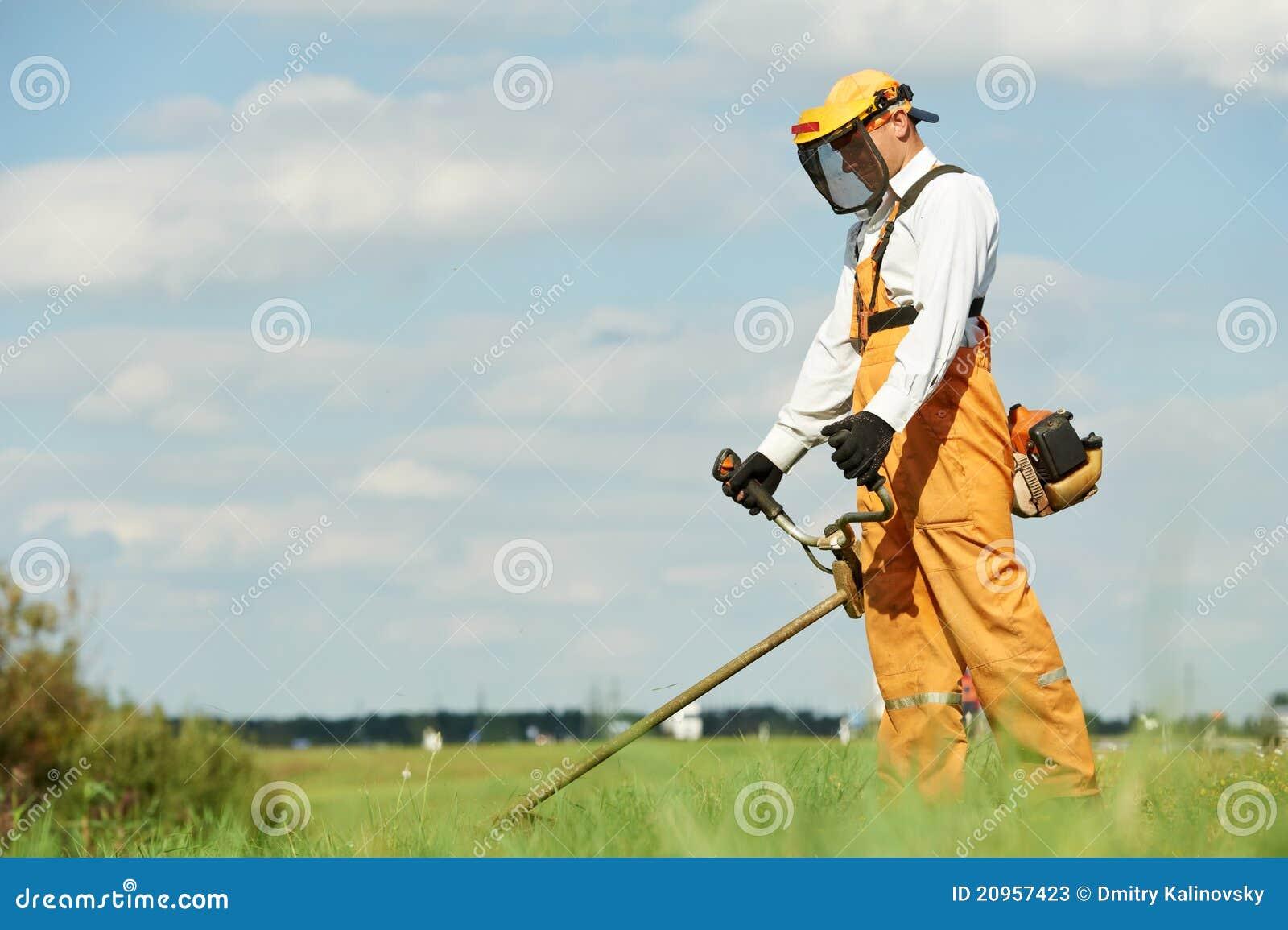 Gräsbeskärarearbeten