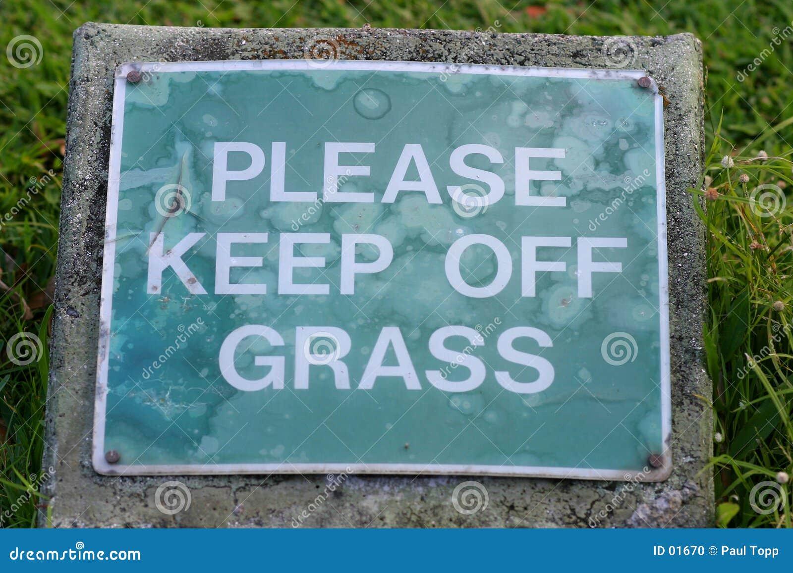 Gräskeep av var god att underteckna
