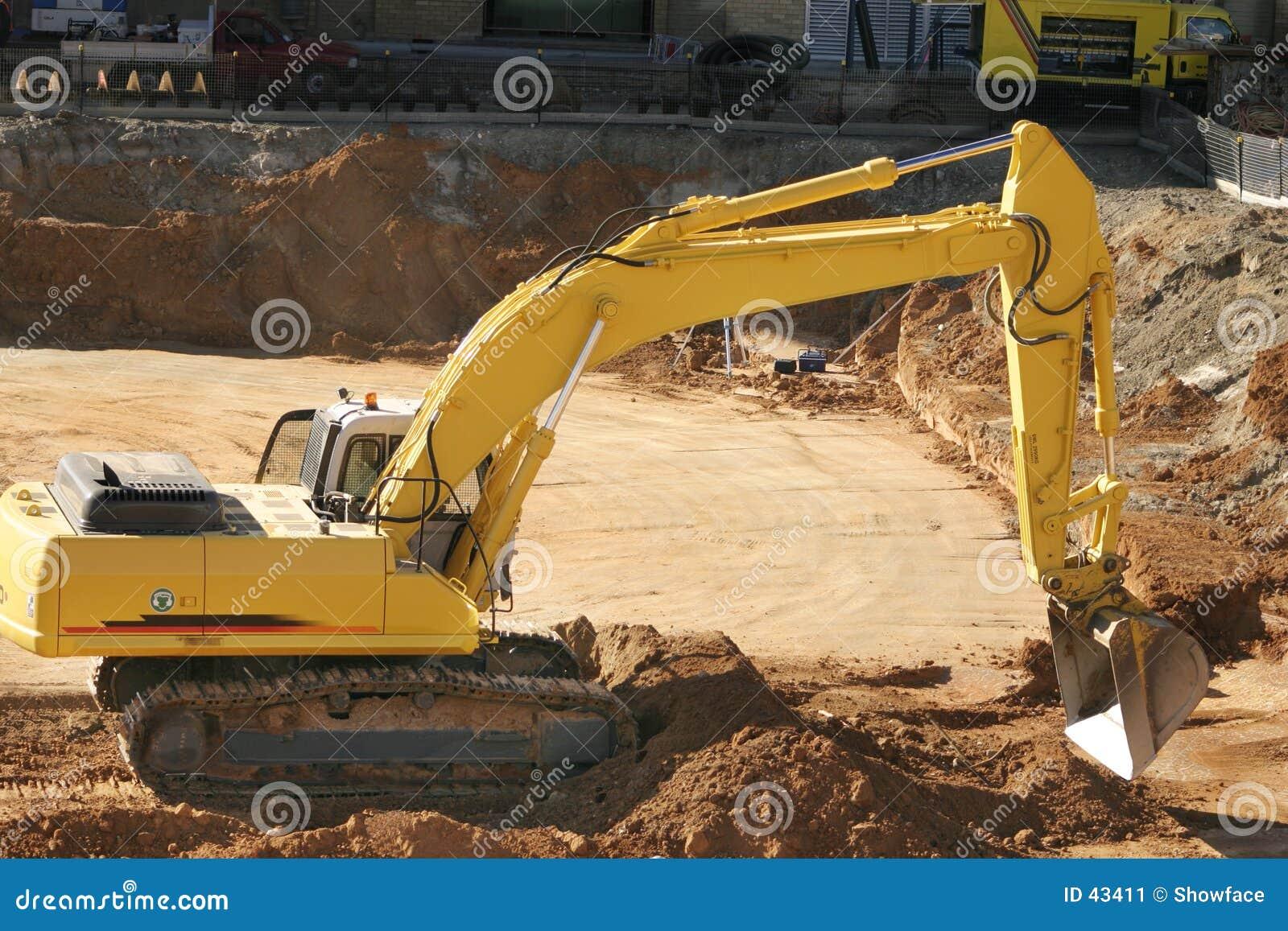 Gräva för konstruktionssmuts
