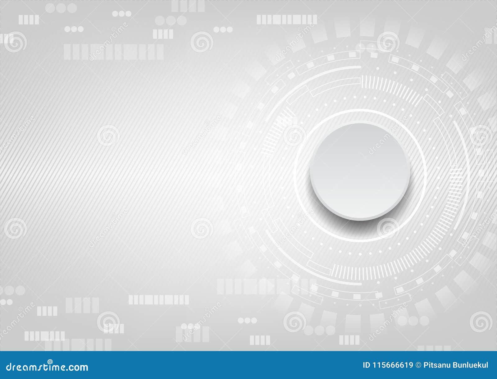 Grå knapp på vit användargränssnittbakgrund med små prickar a
