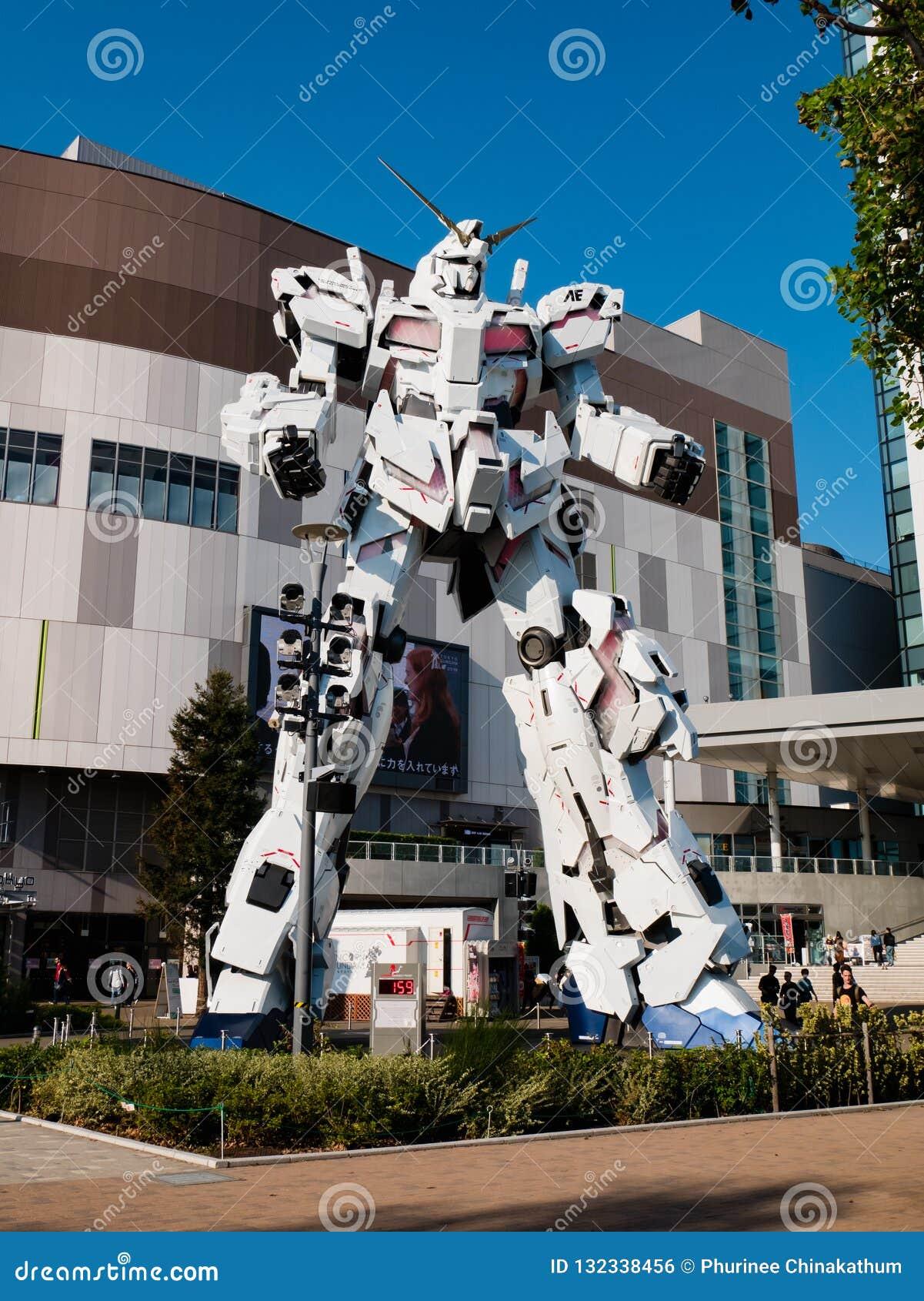 Größengleich von RX-0 Unicorn Gundam am Taucher City Tokyo Plaza in Od