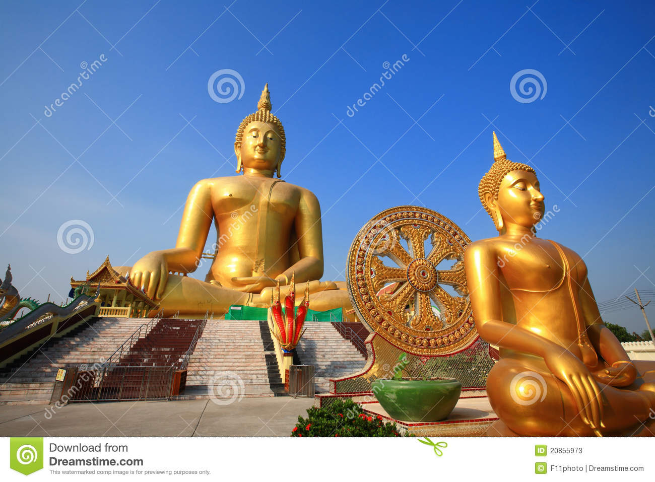 gr te buddha statue am wat muang thailand stockfotos bild 20855973. Black Bedroom Furniture Sets. Home Design Ideas
