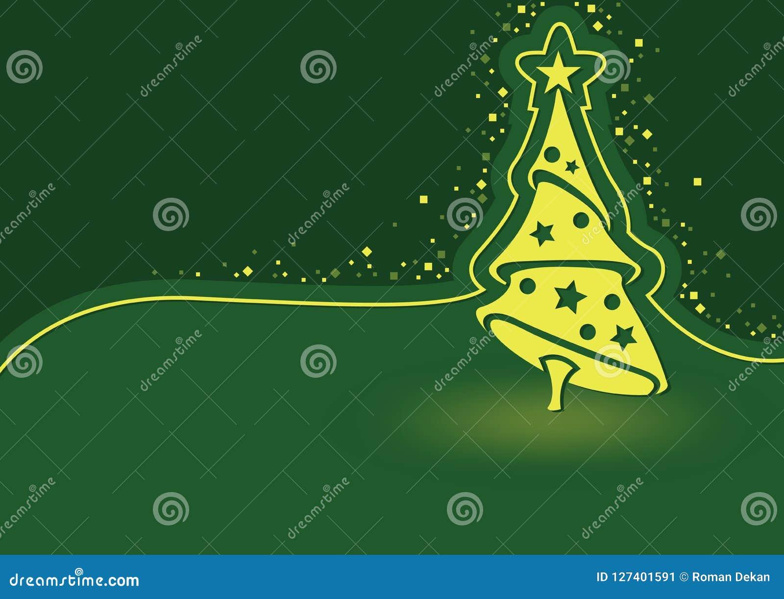 Grön abstrakt julbakgrundsillustration
